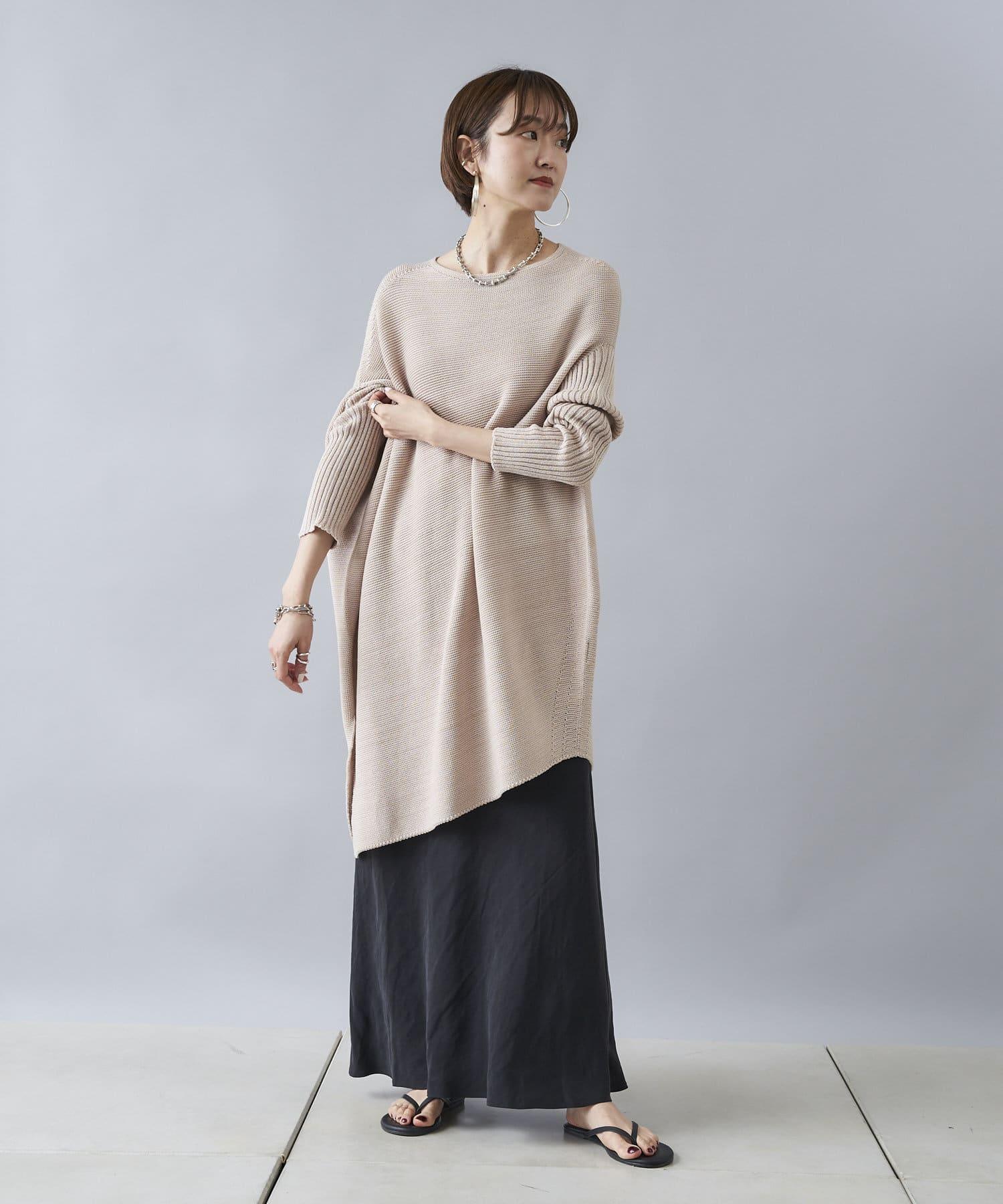 DOUDOU(ドゥドゥ) 【追加予約】麻混ソフトマーメイドスカート