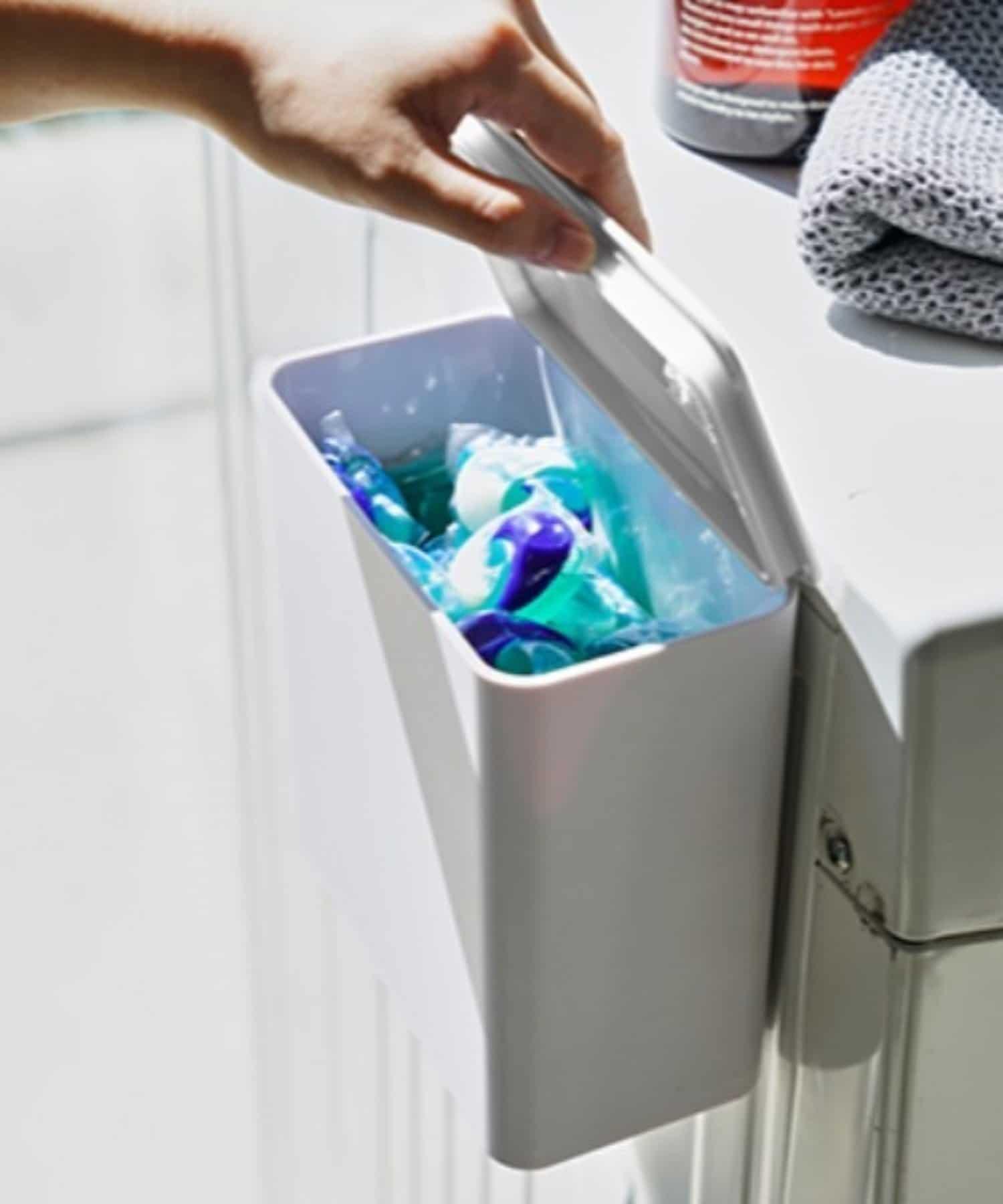 BIRTHDAY BAR(バースデイバー) ライフスタイル 【tower タワー】マグネット 洗濯洗剤ボール ストッカー ホワイト