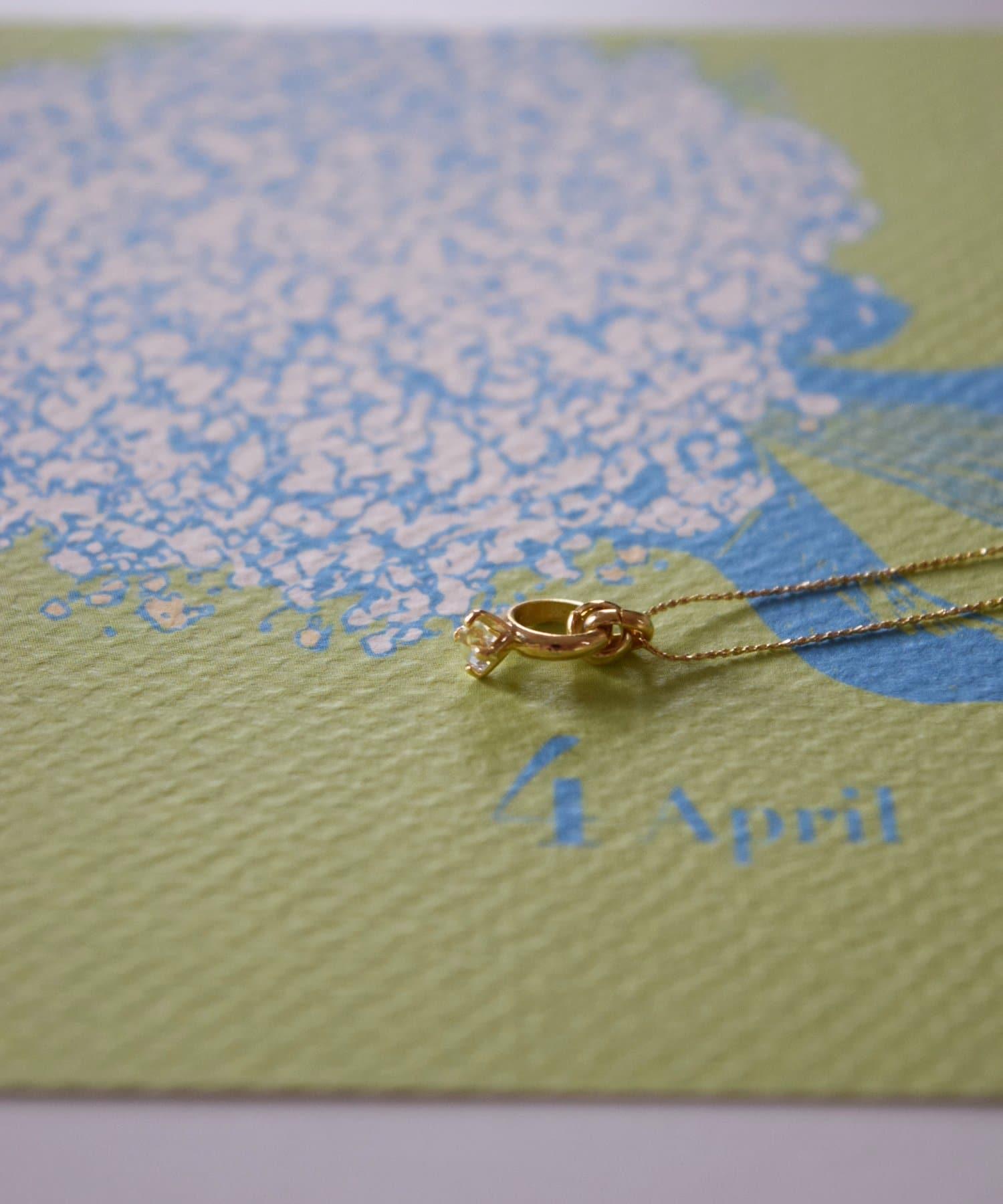 BIRTHDAY BAR(バースデイバー) レディース Birthstone Petit Ring Necklace 誕生石ネックレス その他