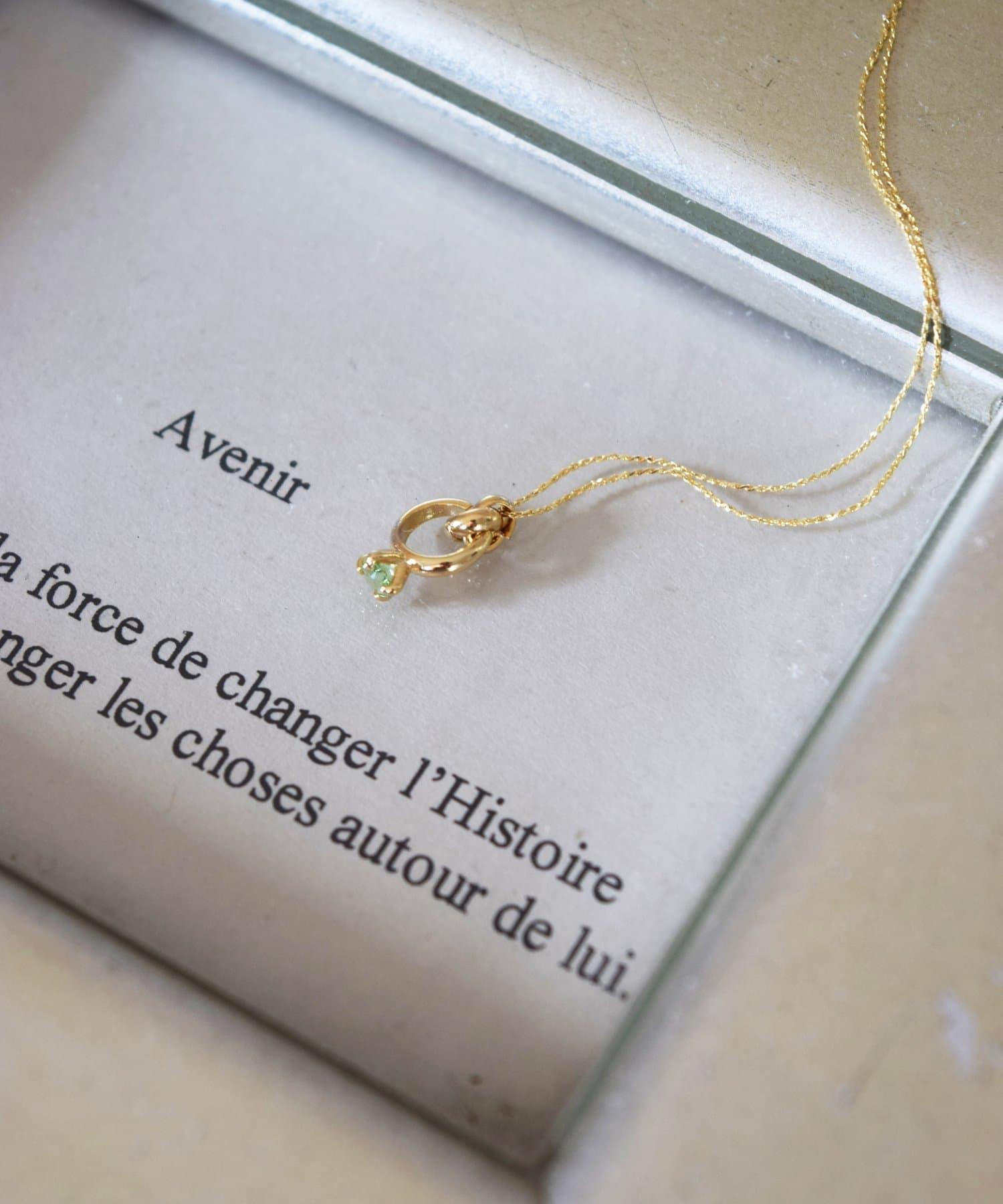 BIRTHDAY BAR(バースデイバー) レディース Birthstone Petit Ring Necklace 誕生石ネックレス エメラルド