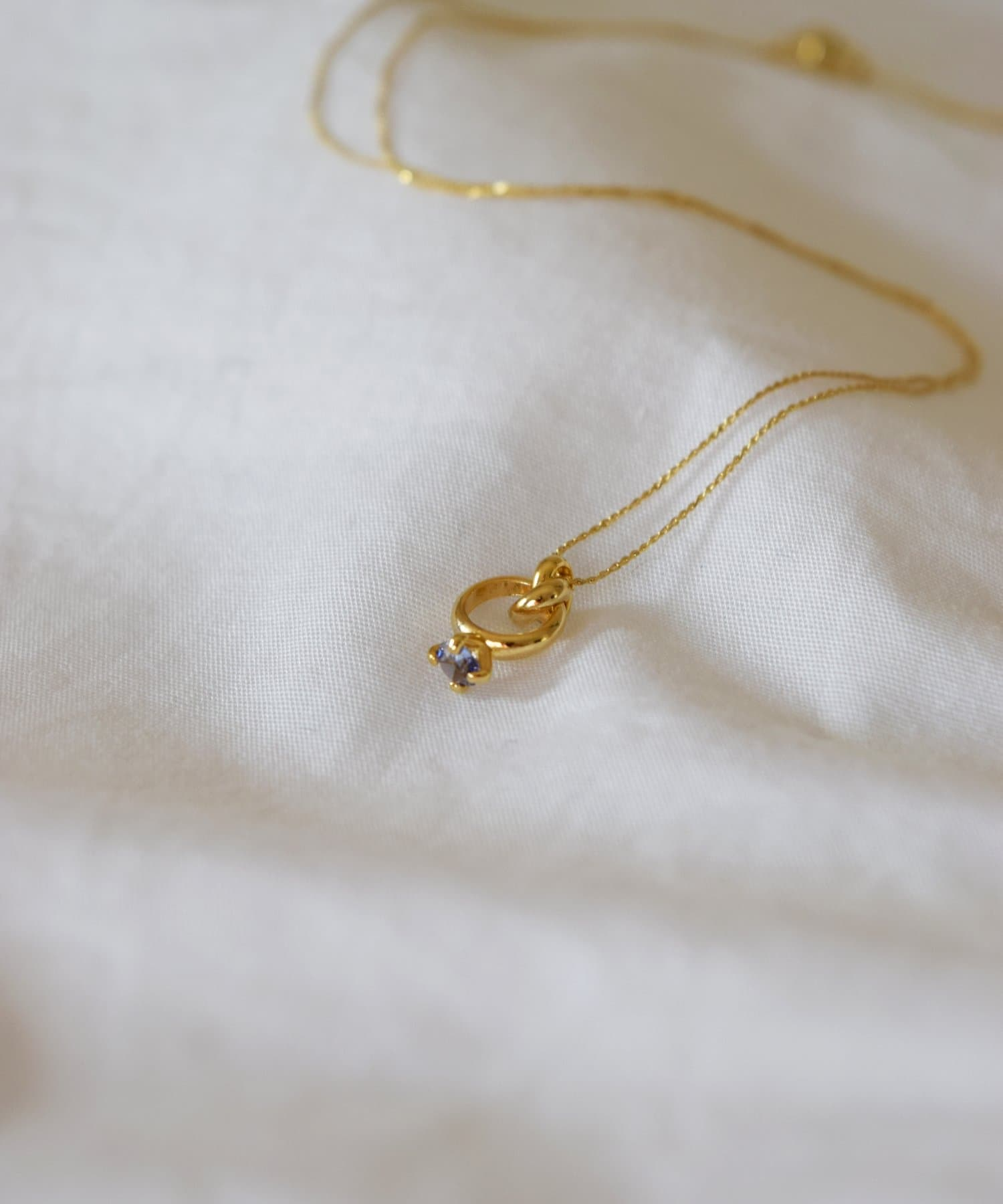 BIRTHDAY BAR(バースデイバー) レディース Birthstone Petit Ring Necklace 誕生石ネックレス オフホワイト