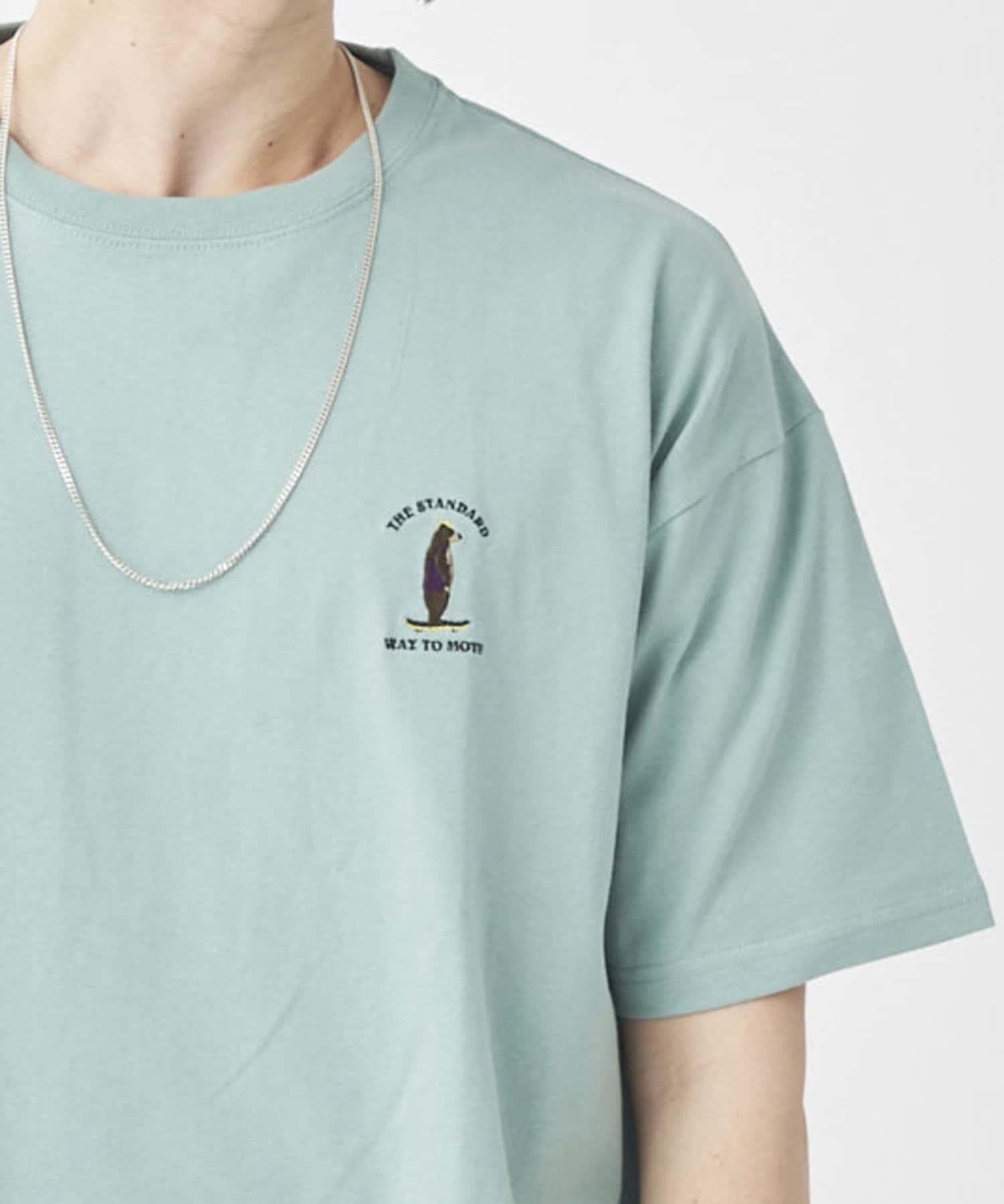 CPCM(シーピーシーエム) 1ポイント半袖刺繍T