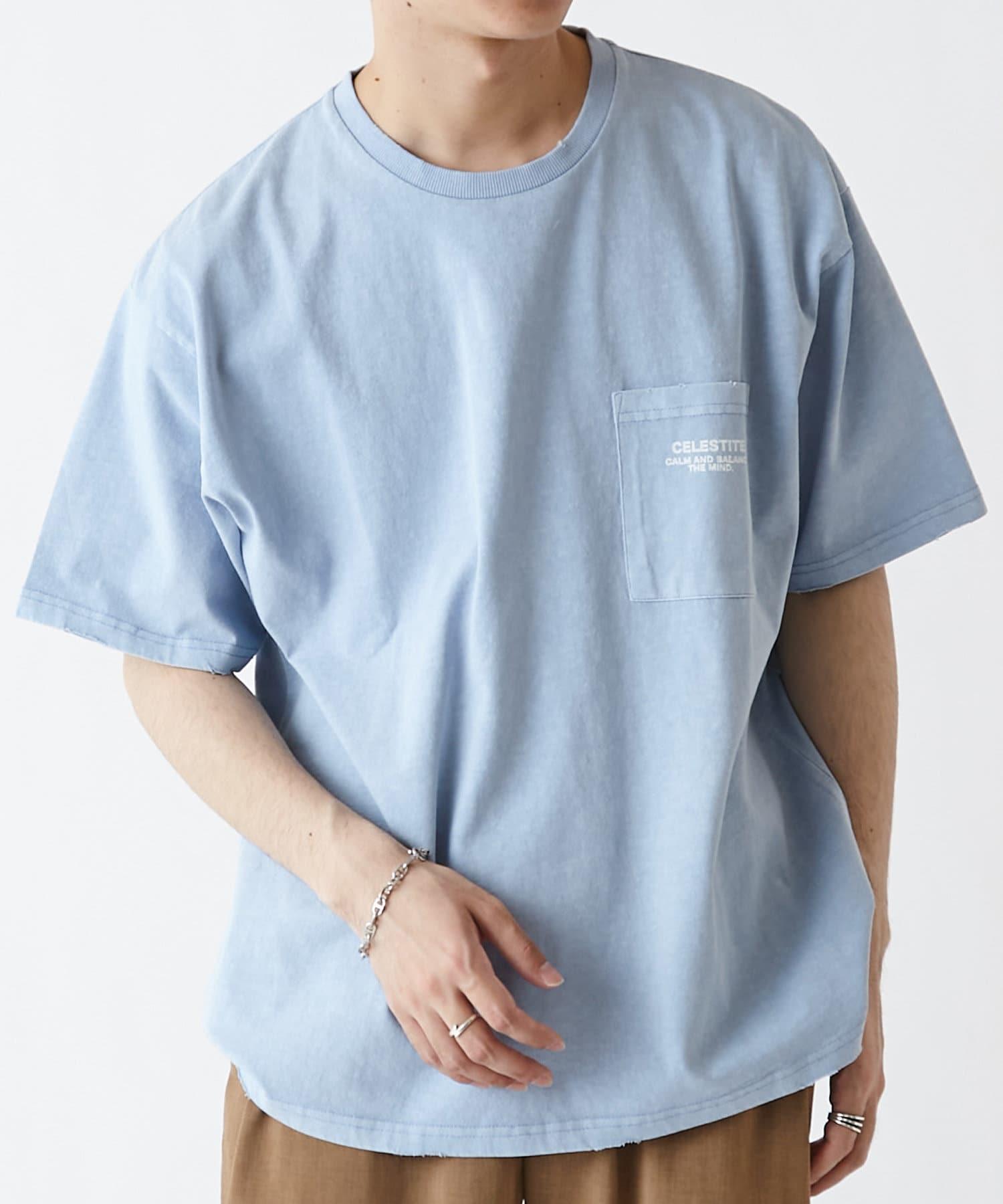 Discoat(ディスコート) クリスタルプリントフェードTシャツ