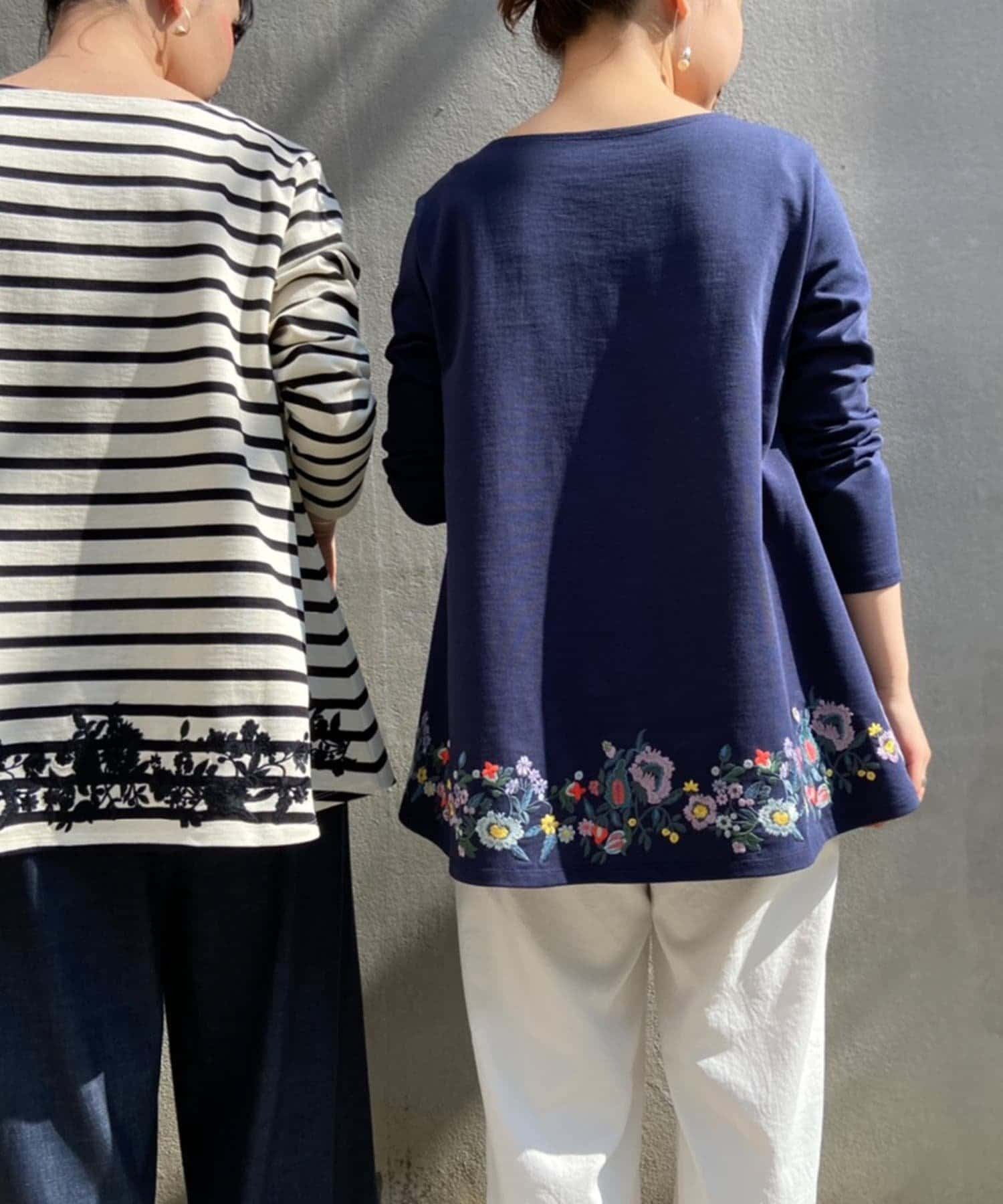 BEARDSLEY(ビアズリー) 後ろ裾刺繍カットソー