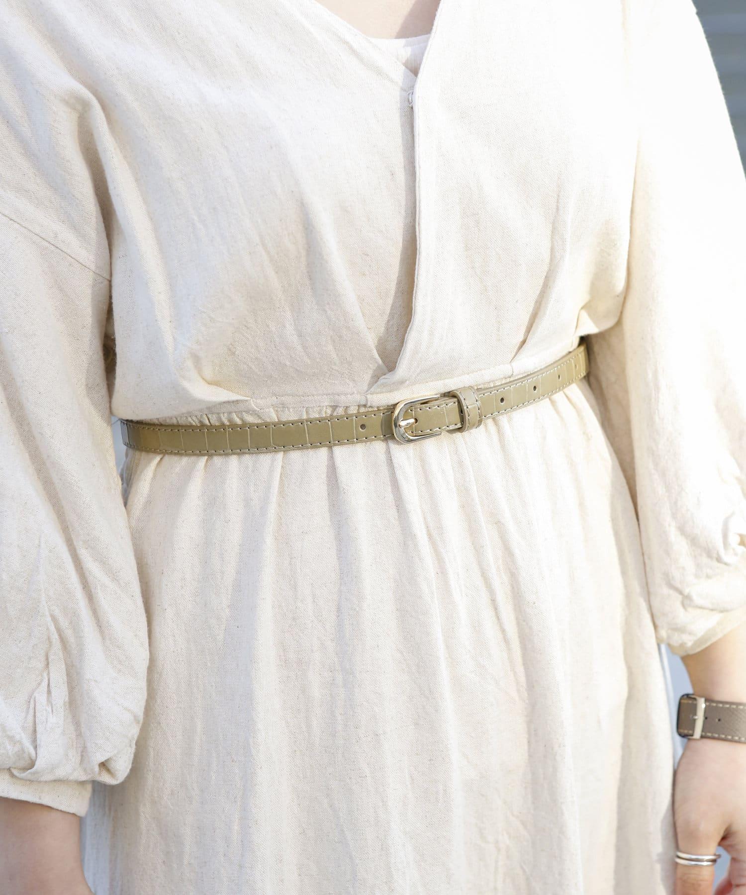 3COINS(スリーコインズ) ライフスタイル 【小物で彩る季節の装い】型おしベルト カーキ