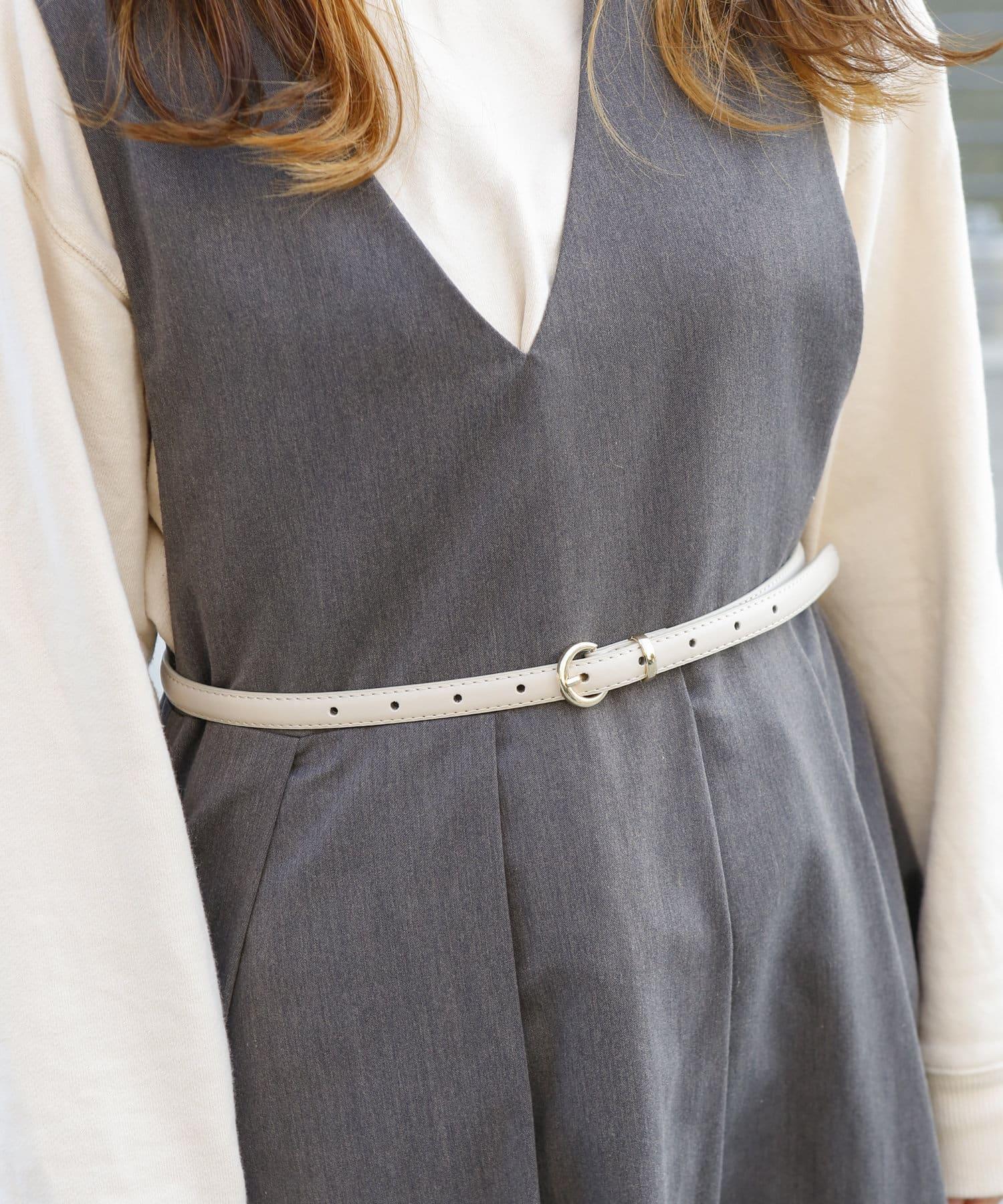 3COINS(スリーコインズ) ライフスタイル 【小物で彩る季節の装い】リングパーツベルト アイボリー