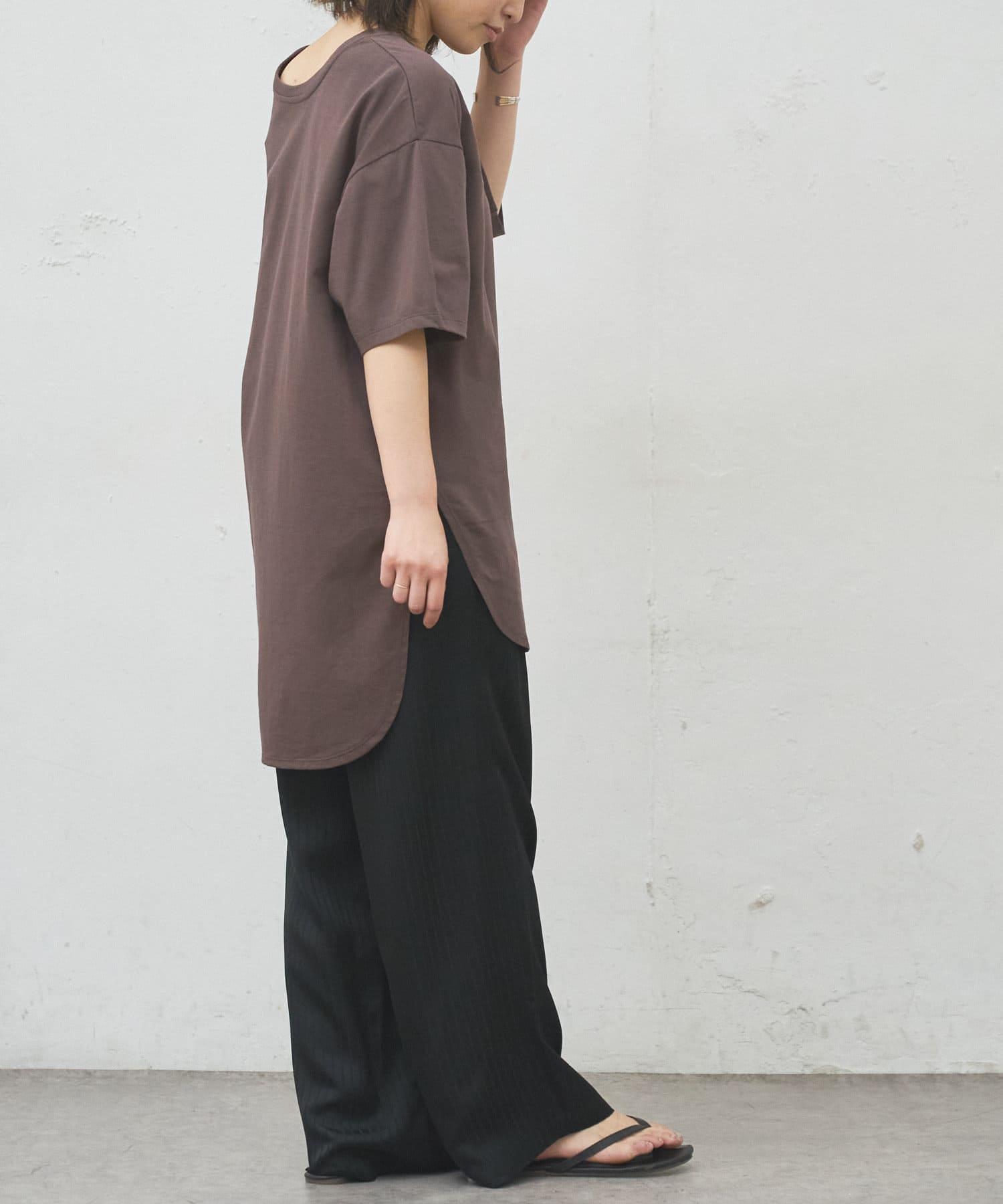 BONbazaar(ボンバザール) ラウンドワイド無地Tシャツ◆