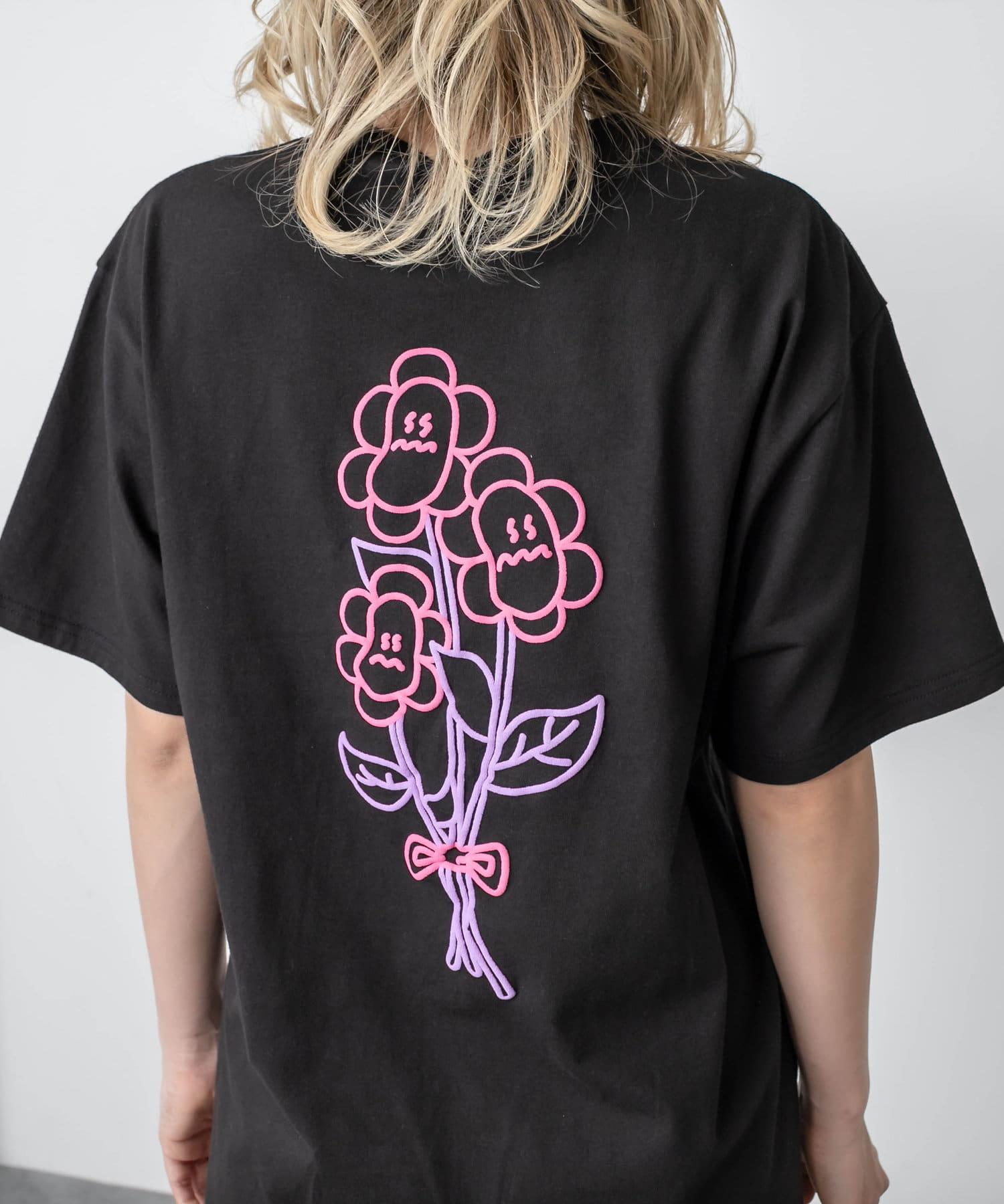RASVOA(ラスボア) フラワー?Tシャツ