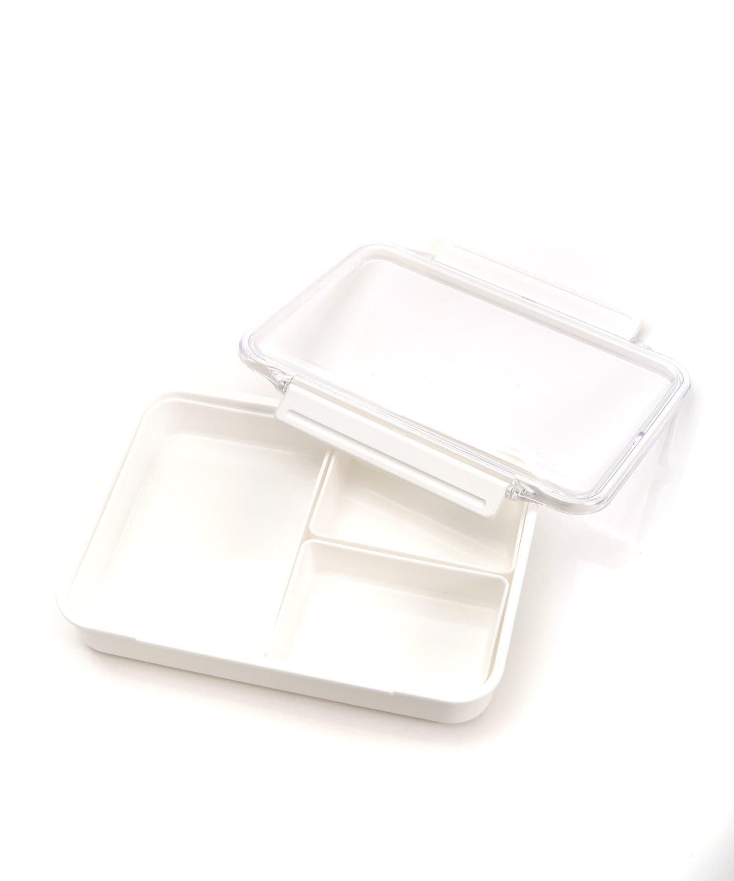 3COINS(スリーコインズ) ホーム 【選んで楽しい】仕切カップ付ランチボックスL ホワイト