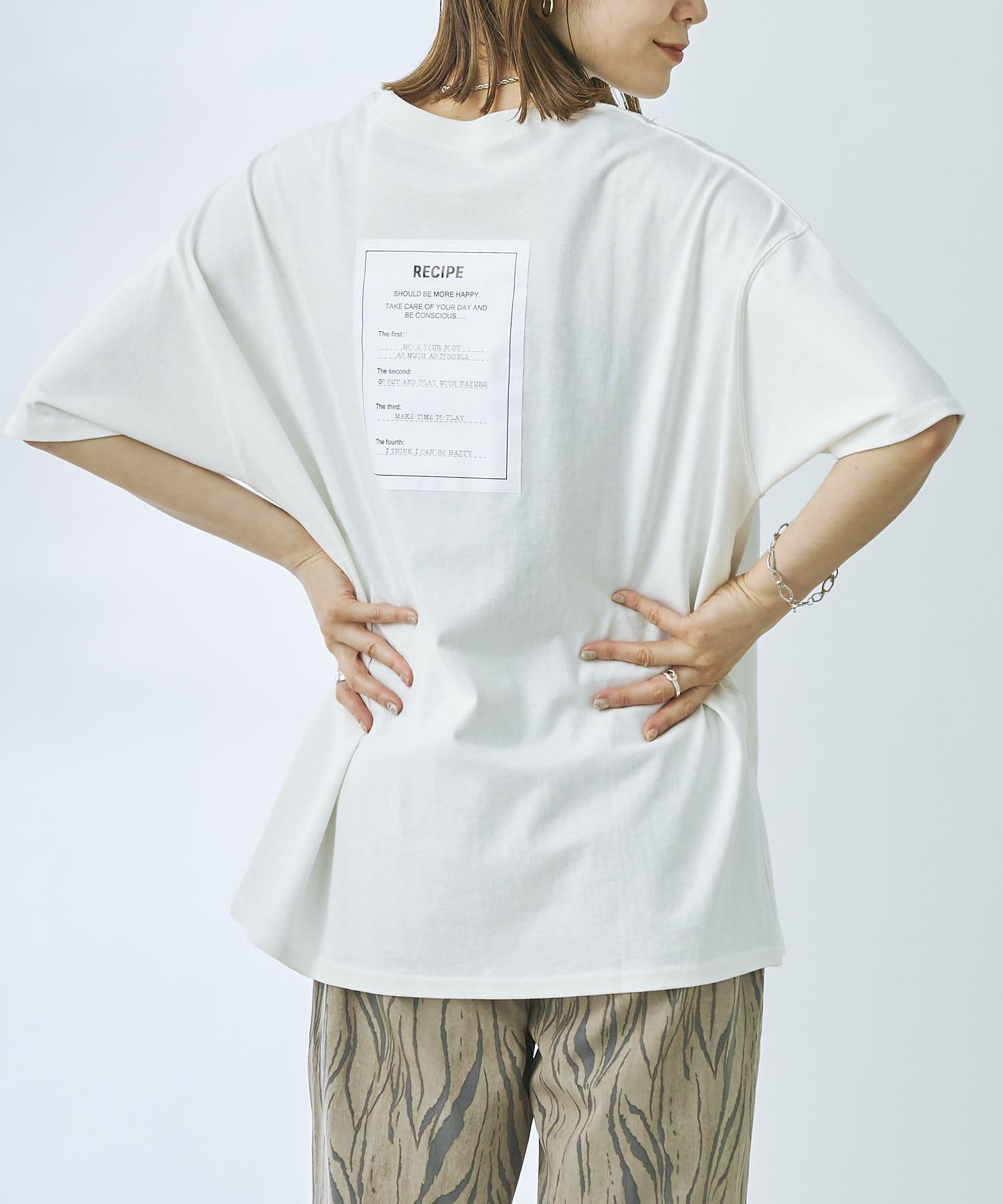 prose verse(プロズヴェール) RECIPEバックタグプリントTシャツ