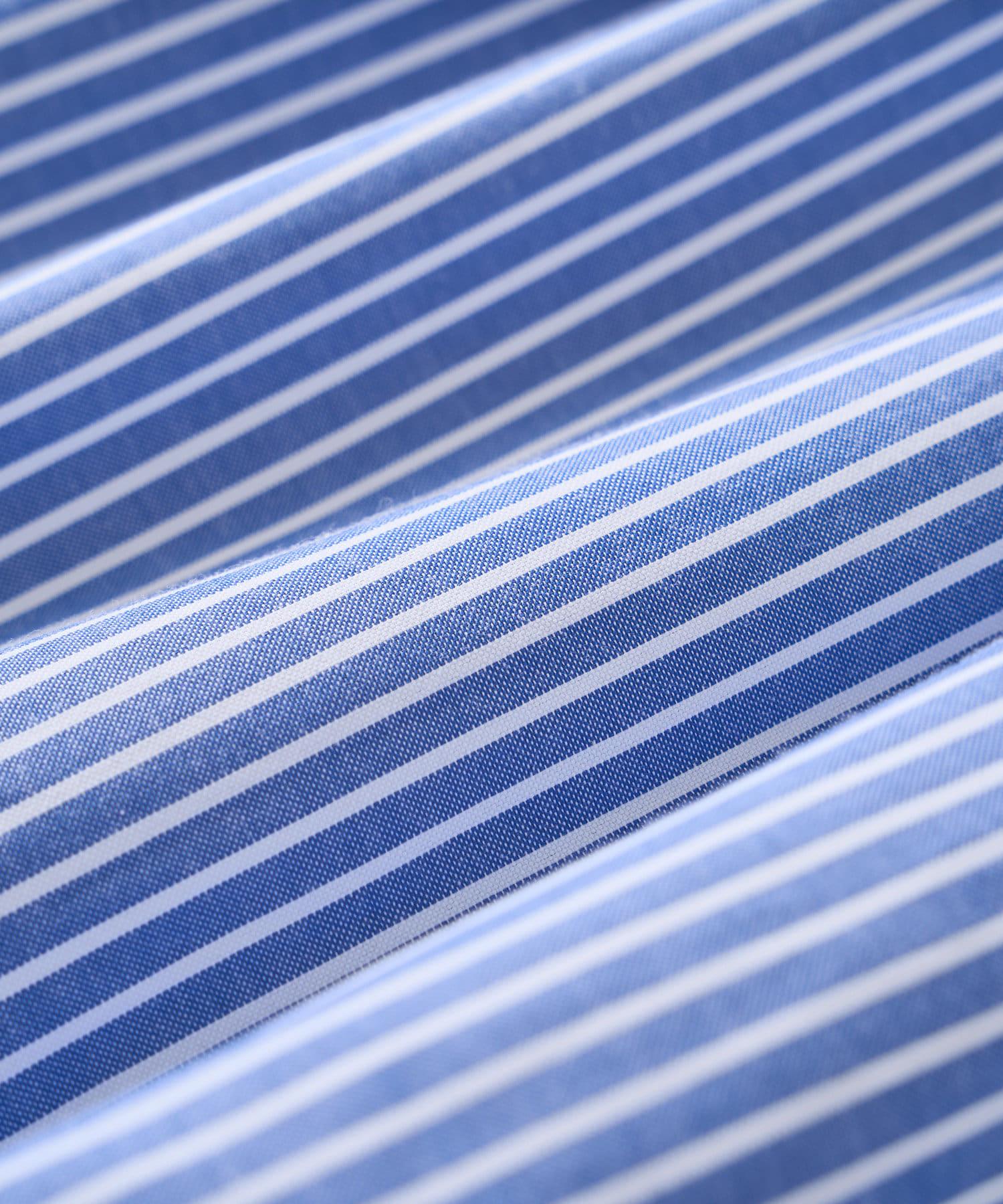 un dix cors(アンディコール) 【《女性らしいシルエット》洗える】バックボリュームストライプシャツ