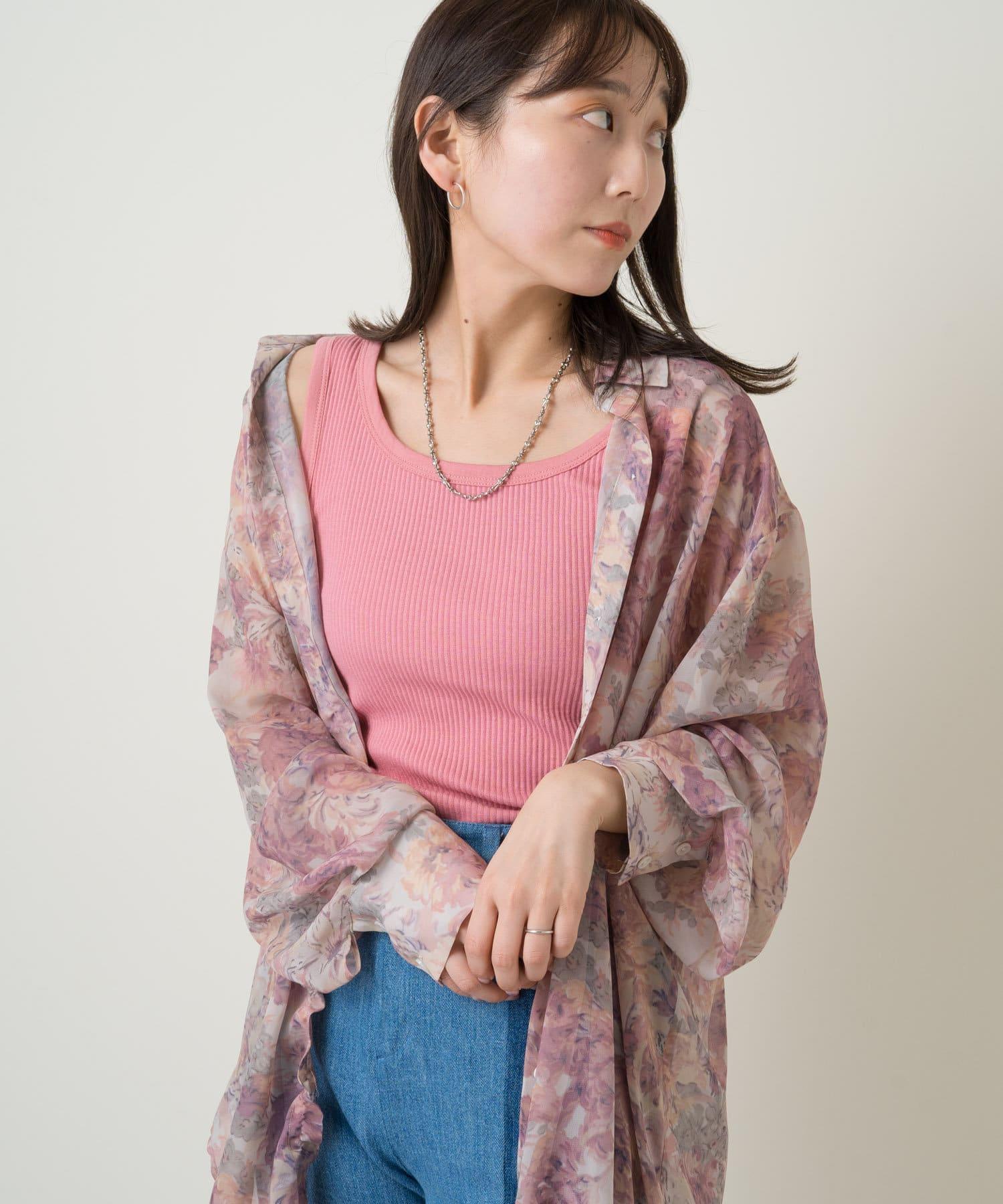 Kastane(カスタネ) SET UP Flower Print Shear Shirts