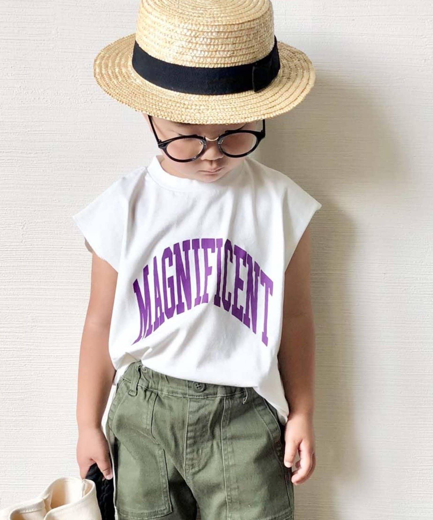 CIAOPANIC TYPY(チャオパニックティピー) 【KIDS】MAGNIFICENT カレッジPt ノースリーブチュニックTee