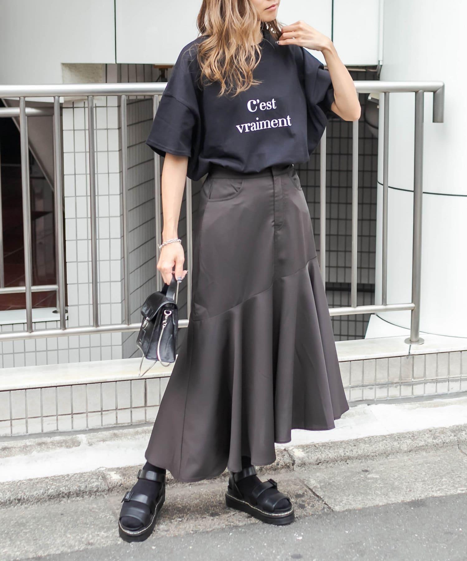 RASVOA(ラスボア) カラーロゴBIG Tシャツ