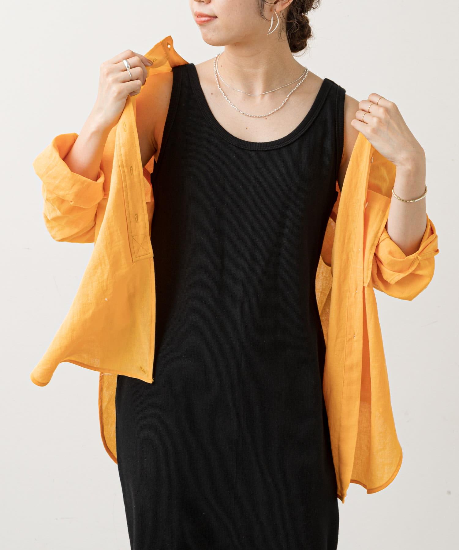 Omekashi(オメカシ) リネンノーカラー2WAYシャツ
