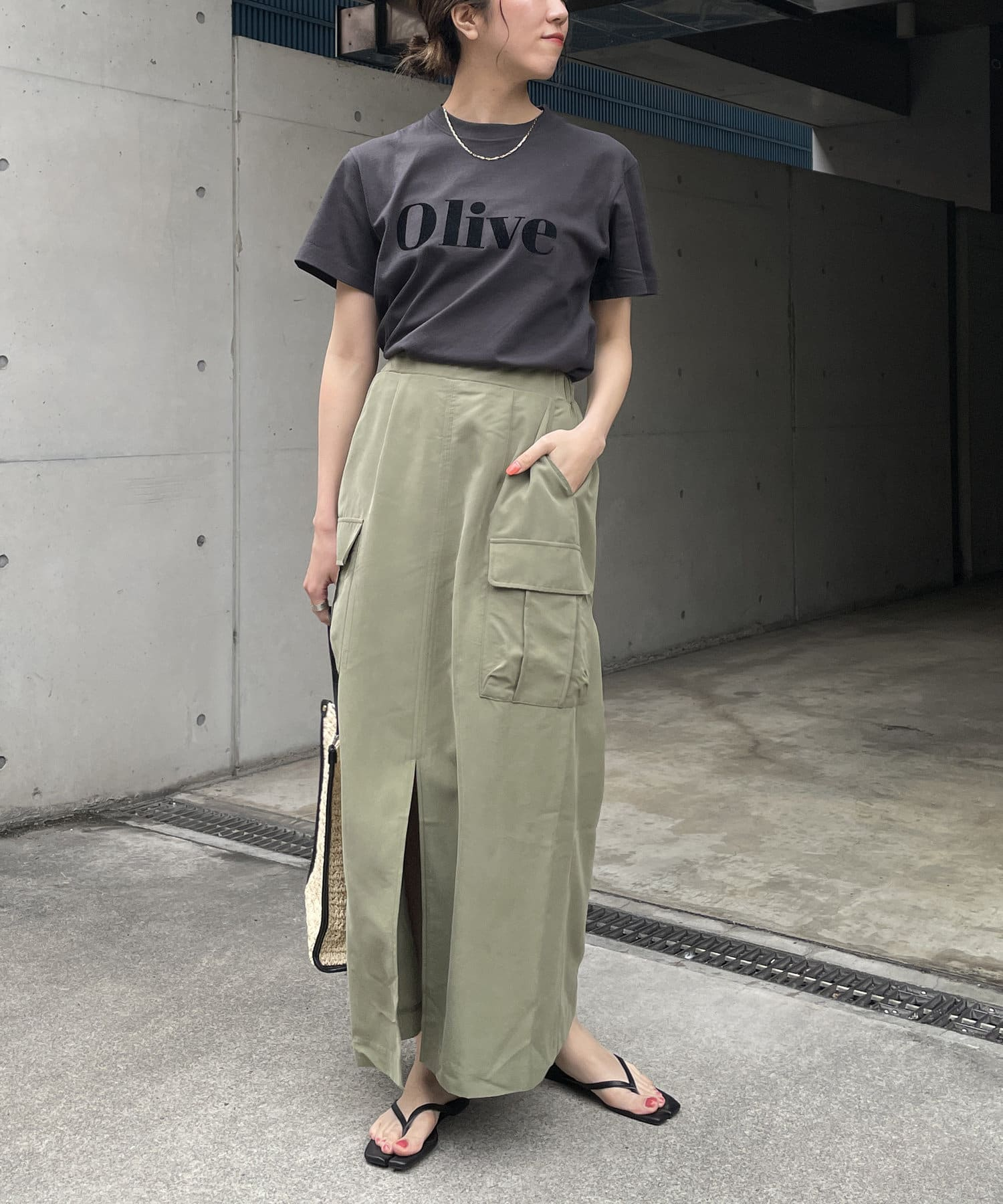 CAPRICIEUX LE'MAGE(カプリシュレマージュ) Olive Tシャツ