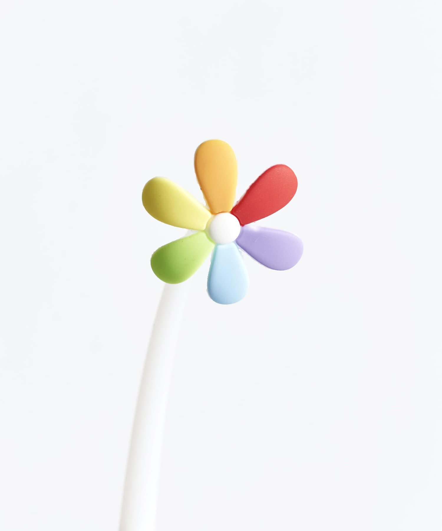 3COINS(スリーコインズ) 【ASOKO】ふにゃふにゃカラフル花ボールペン