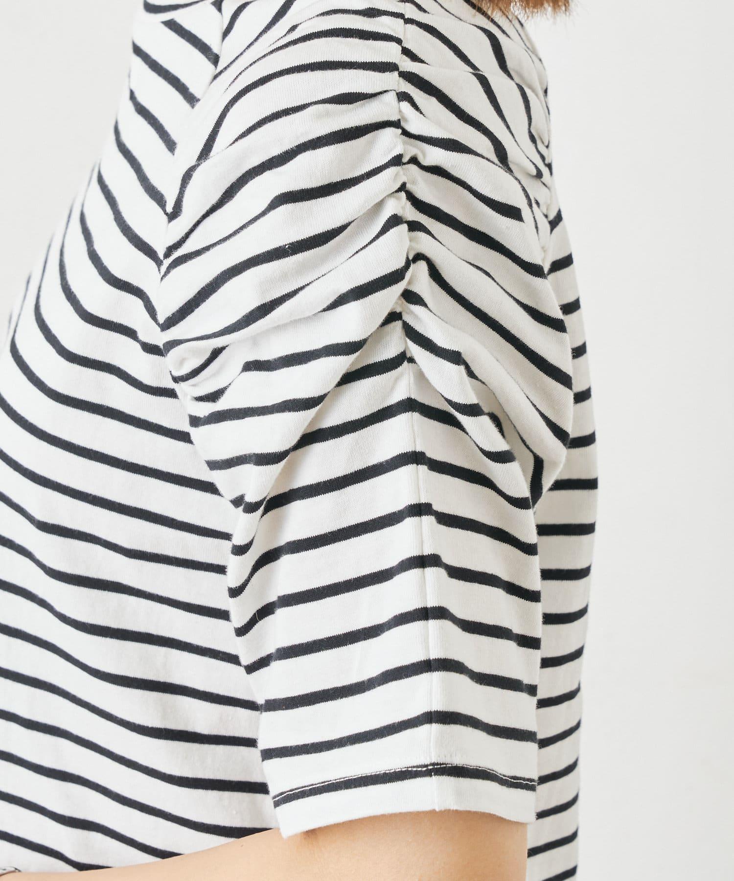 Omekashi(オメカシ) シャーリングパフTシャツ