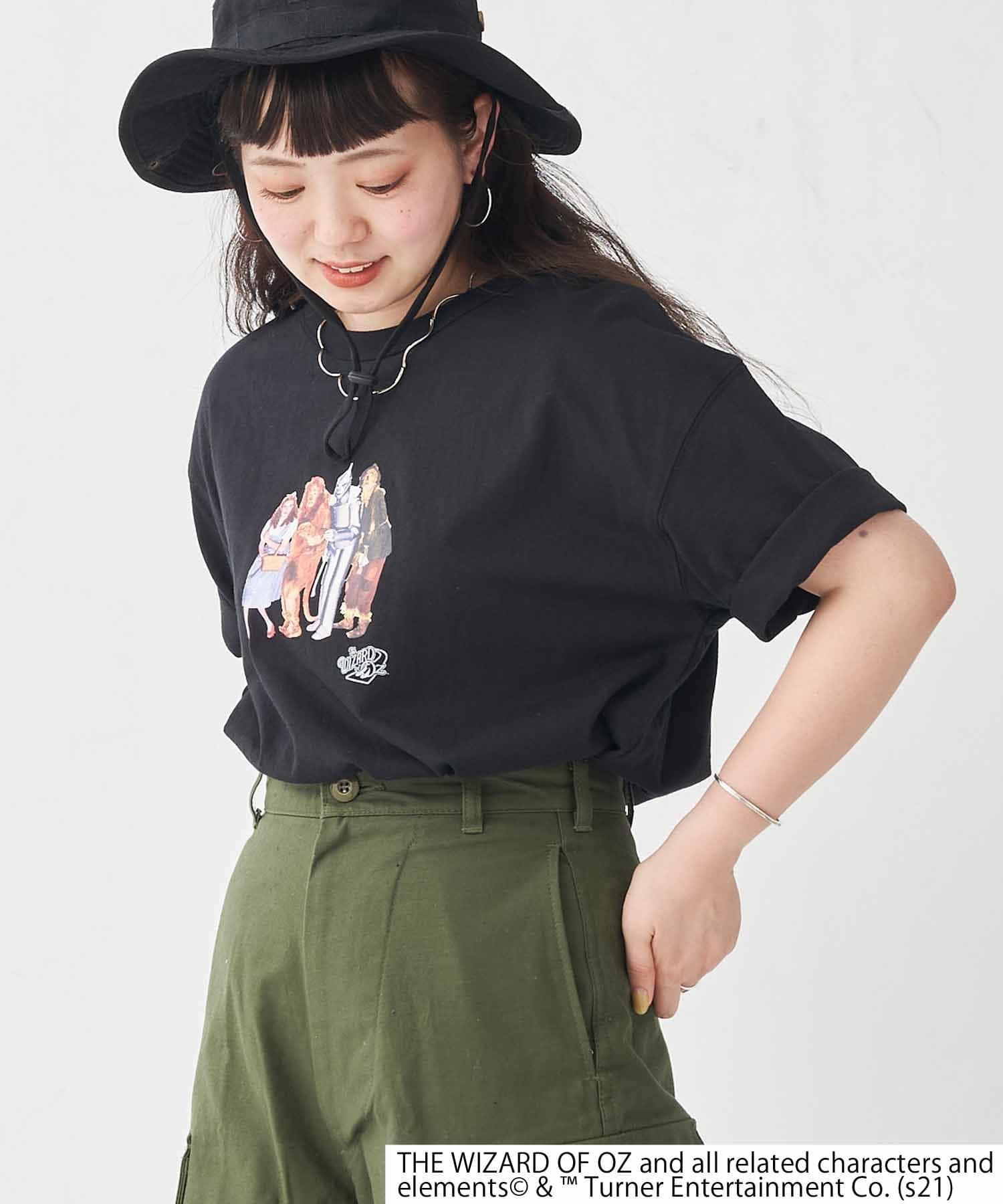 CPCM(シーピーシーエム) レディース 【オズの魔法使】集合写真T ブラック