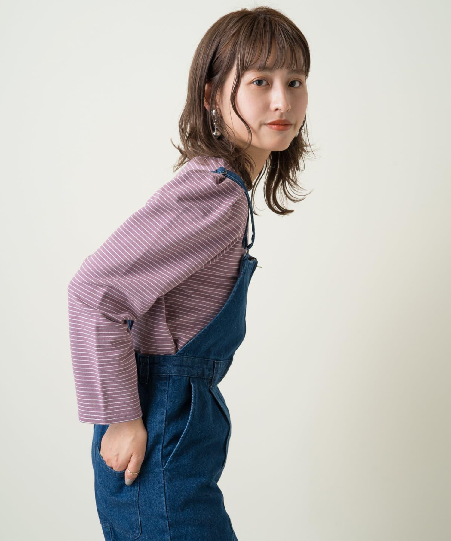 Kastane(カスタネ) パフボーダー7分袖Tee