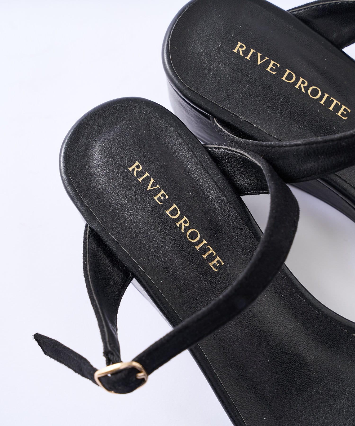RIVE DROITE(リヴドロワ) 【幅広く活躍する】スクエアウエッジサンダル