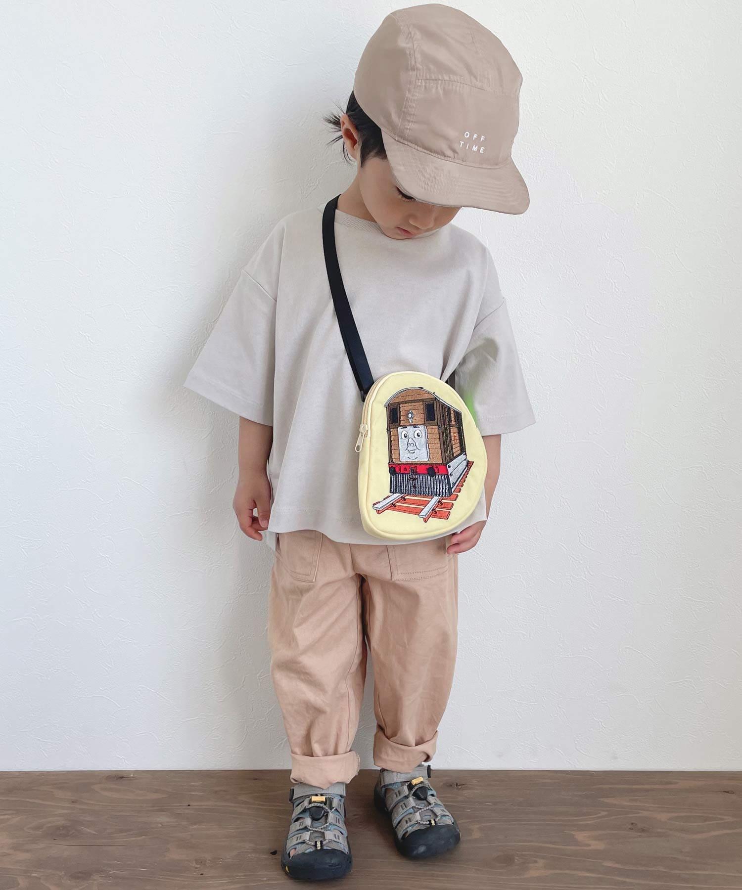 CIAOPANIC TYPY(チャオパニックティピー) キッズ 【KIDS】【きかんしゃトーマス】コラボ ダイカットサコッシュ ベージュ