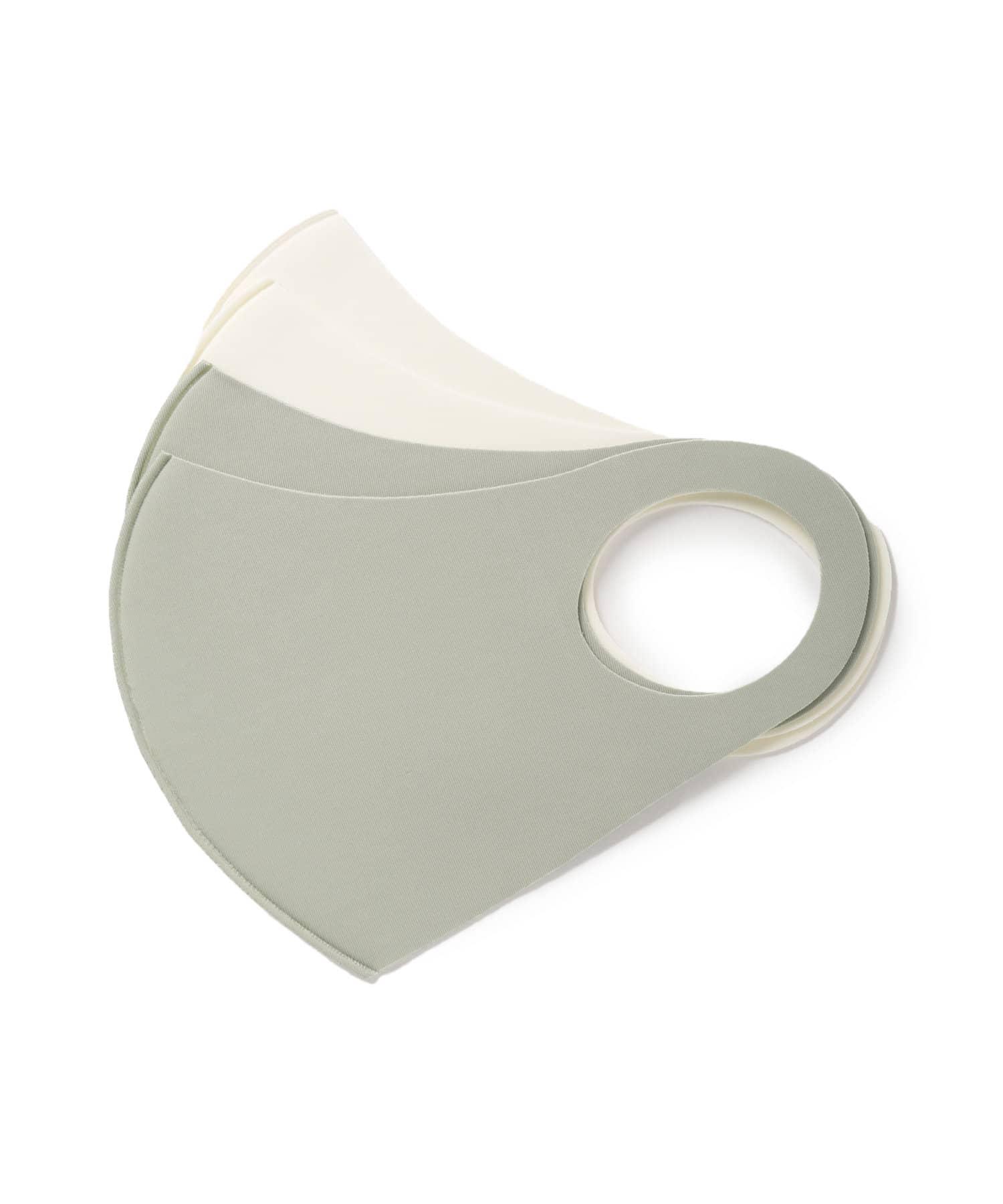 Lattice(ラティス) レディース 《ニュアンスカラー冷感抗菌マスク》4枚SET(小さめサイズ) グリーン