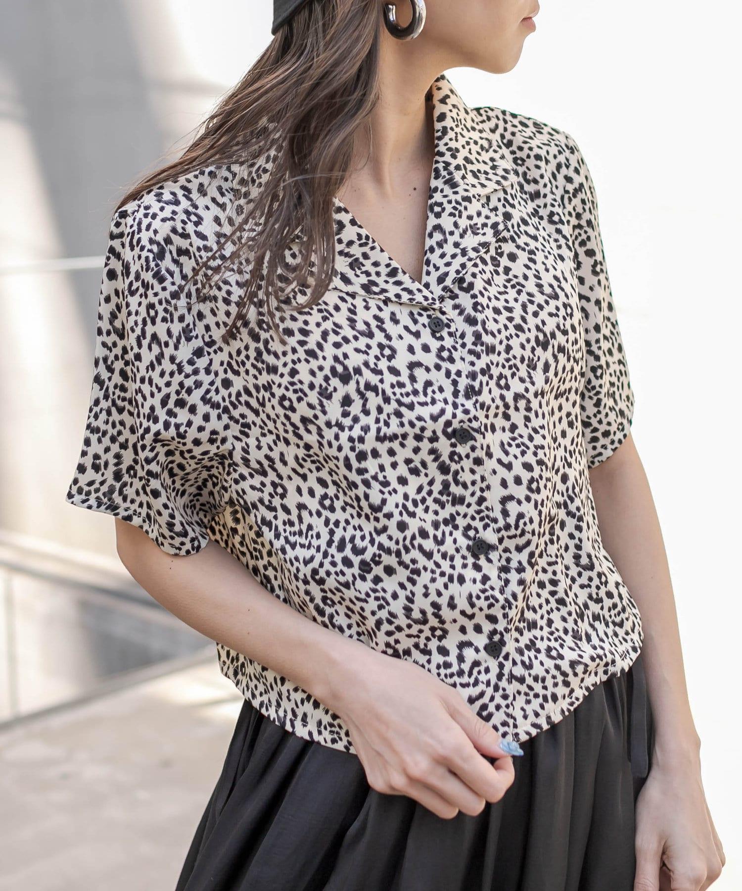 RASVOA(ラスボア) オープンカラーショートシャツ
