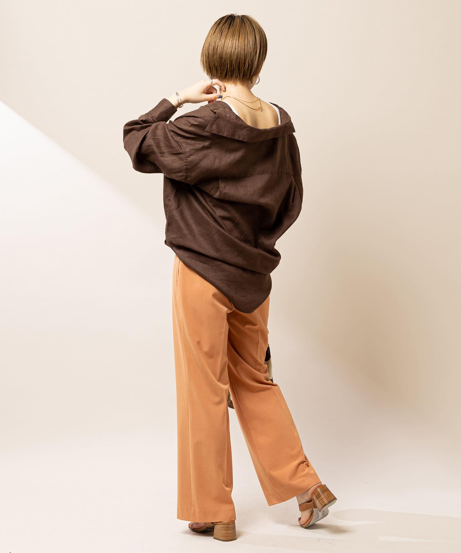 SHENERY(シーナリー) 2WAYリネンカシュクールオーバーシャツ