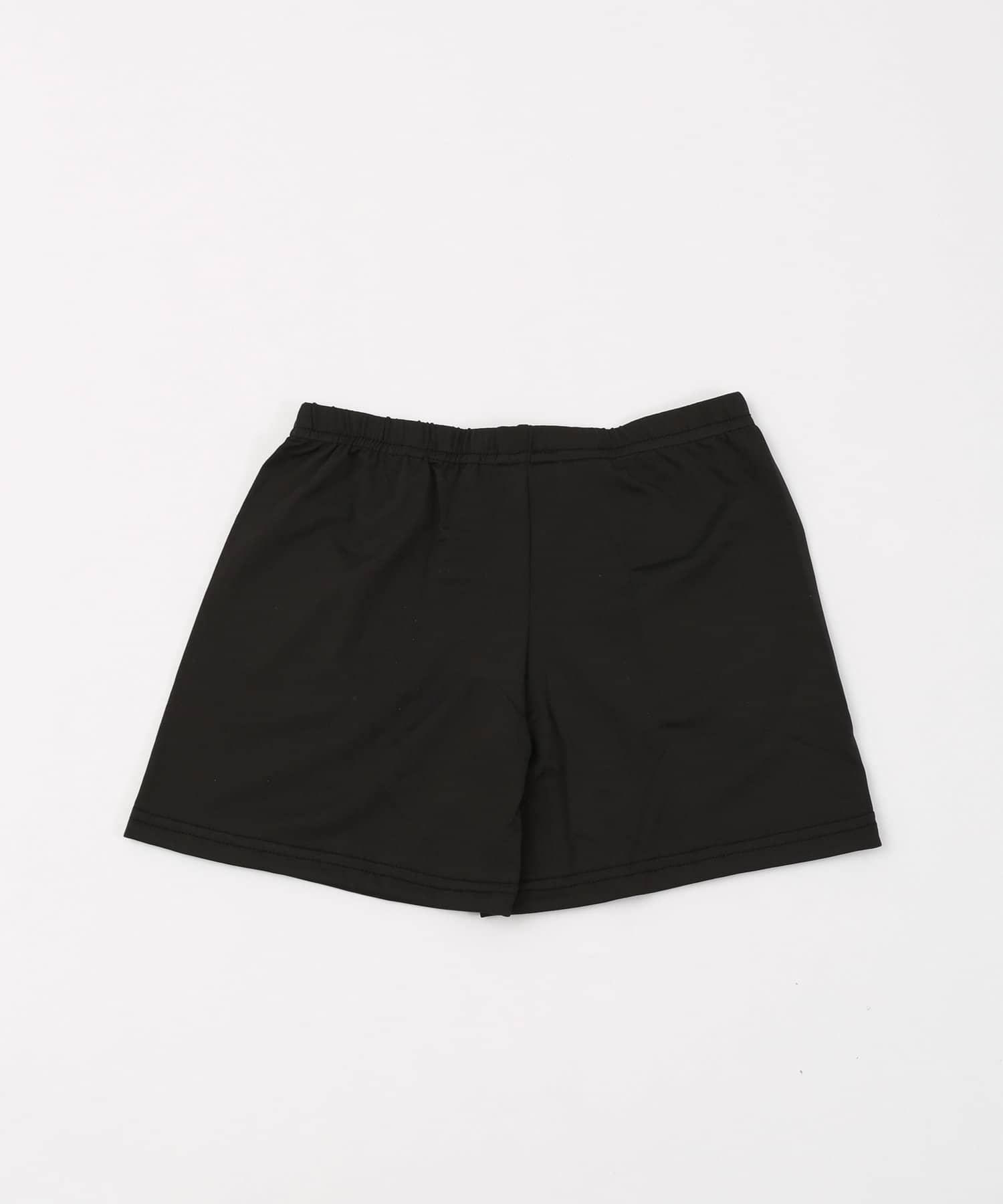 3COINS(スリーコインズ) ライフスタイル 吸水速乾1分丈パンツ【Lサイズ】 ブラック