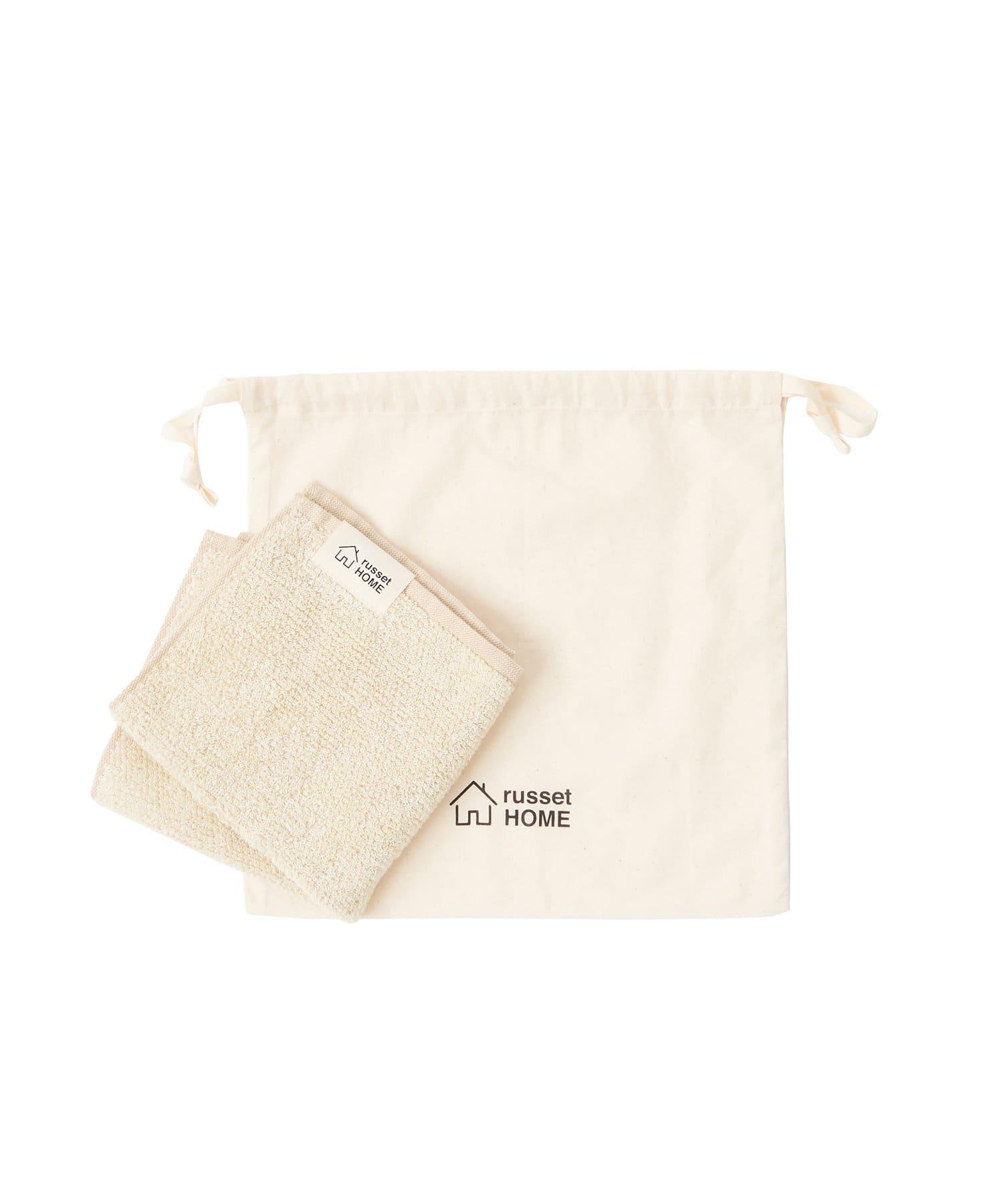 russet(ラシット) レディース 【cocochiena】巾着付きハンドタオル(N-001) アイボリー