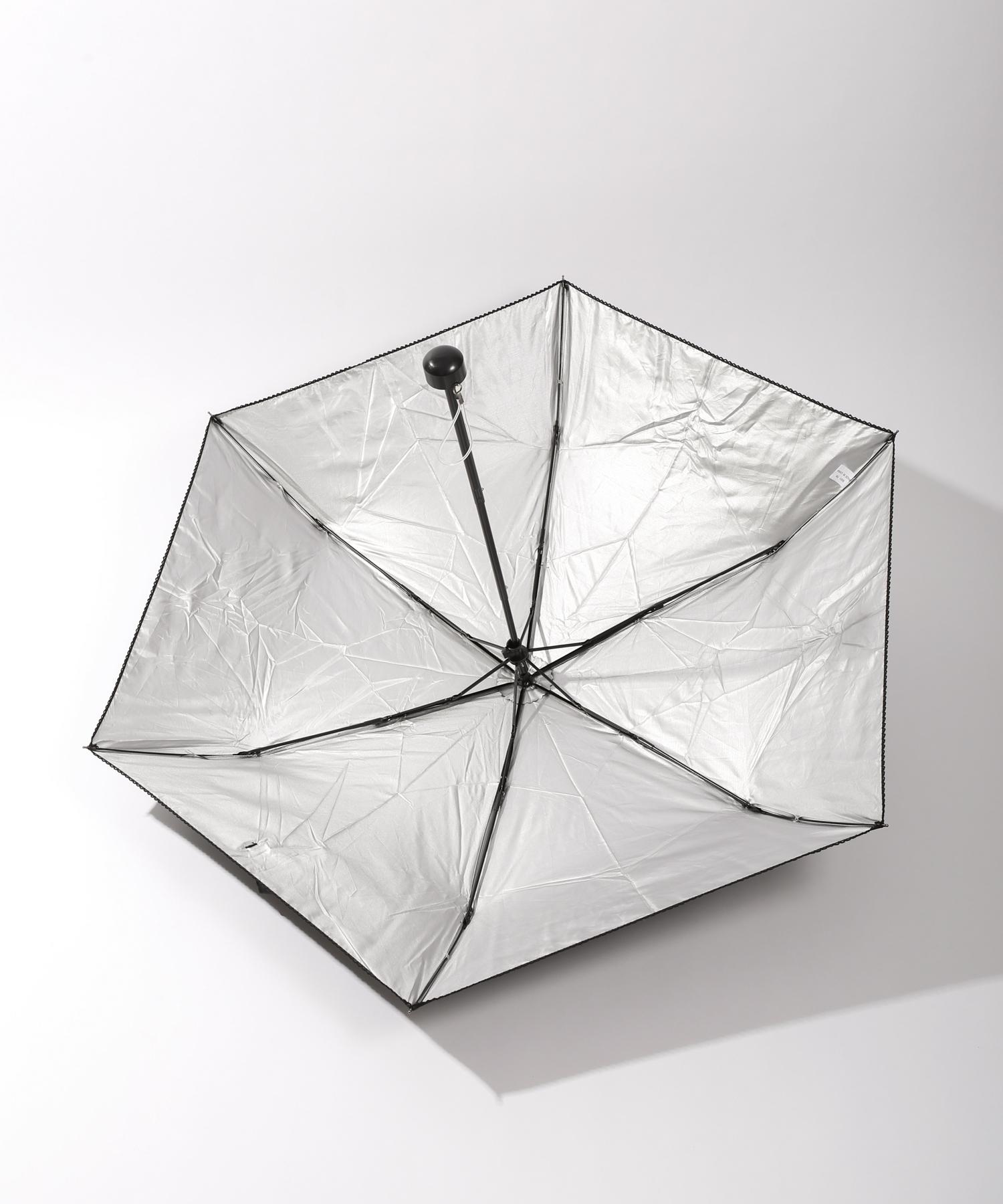 3COINS(スリーコインズ) 晴雨兼用折傘ピコ無地