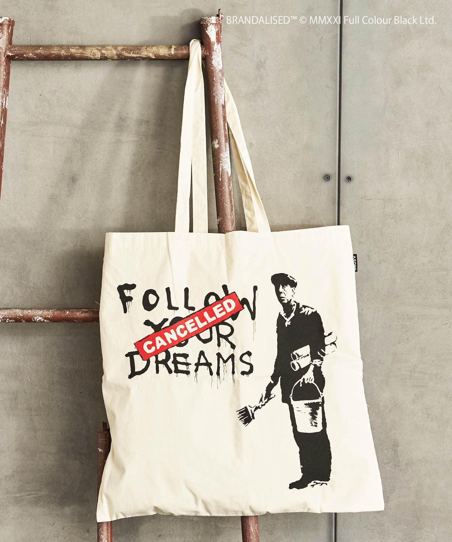 3COINS(スリーコインズ) 【ASOKO】Banksy's Graffiti トートバッグ(L)