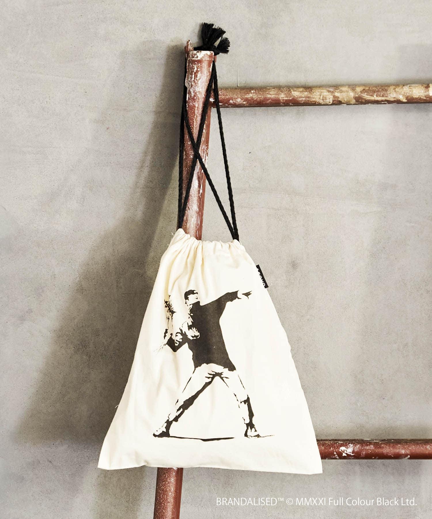 3COINS(スリーコインズ) 【ASOKO】Banksy's Graffiti 巾着1枚