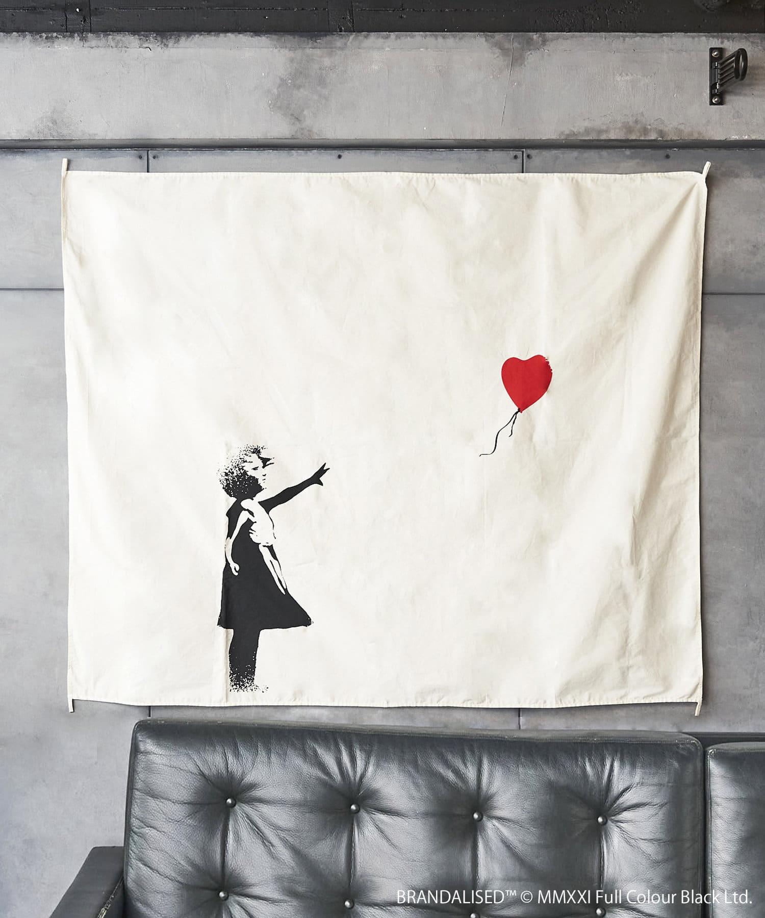 3COINS(スリーコインズ) 【ASOKO】Banksy's Graffiti ファブリックポスター(L)