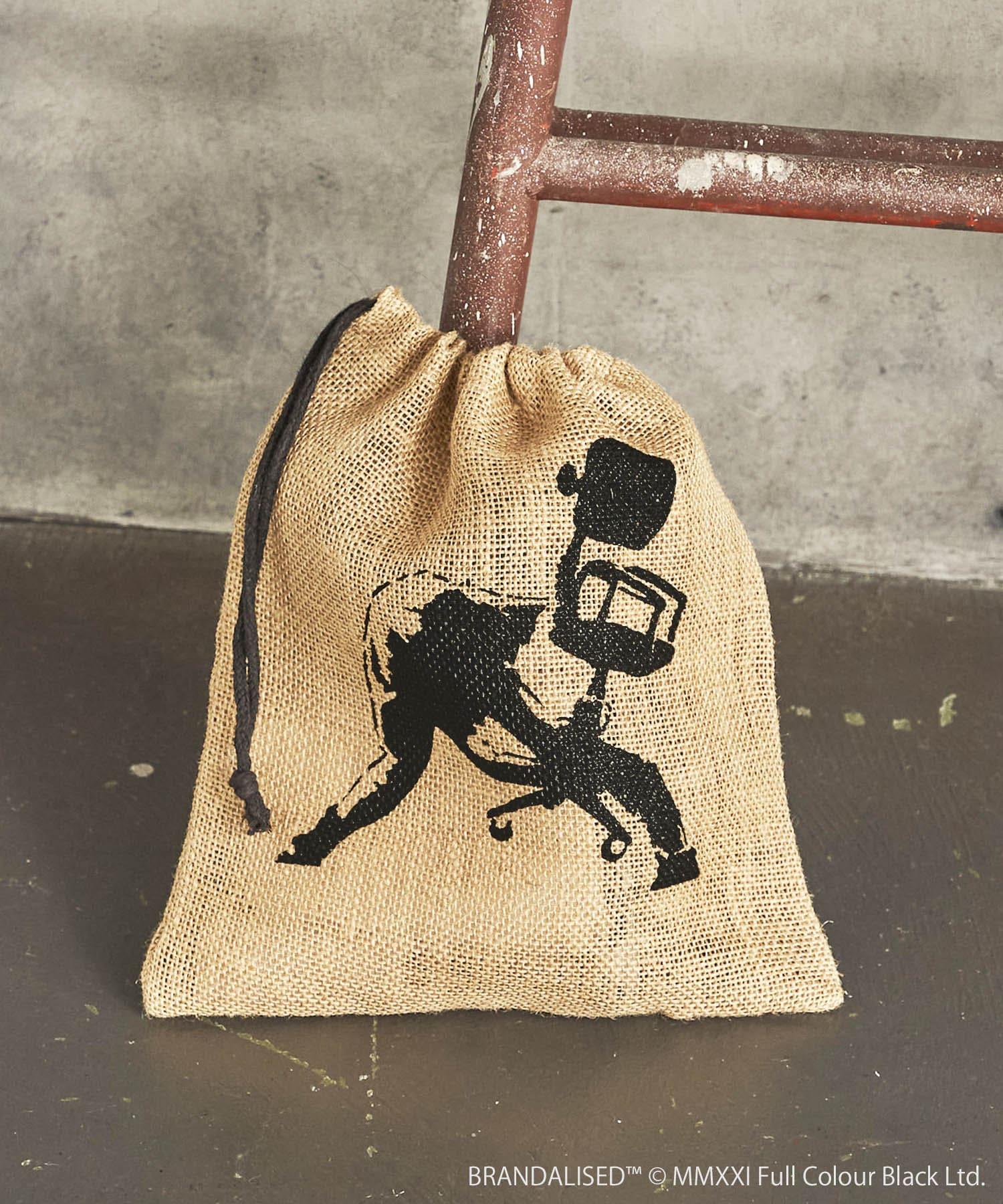 ASOKO(アソコ) ライフスタイル Banksy's Graffiti ジュート巾着 その他