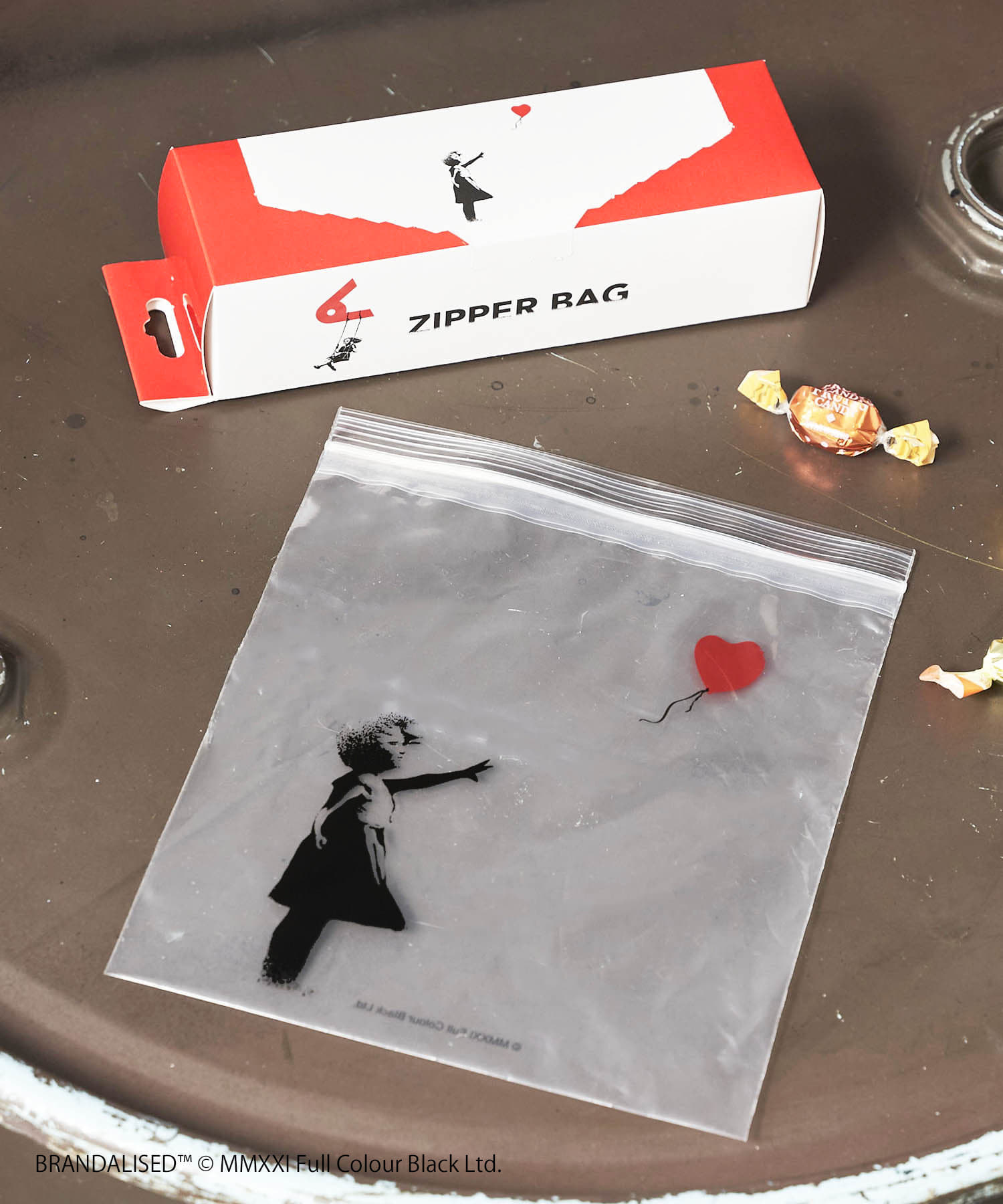 ASOKO(アソコ) Banksy's Graffiti ジップバッグ(L)