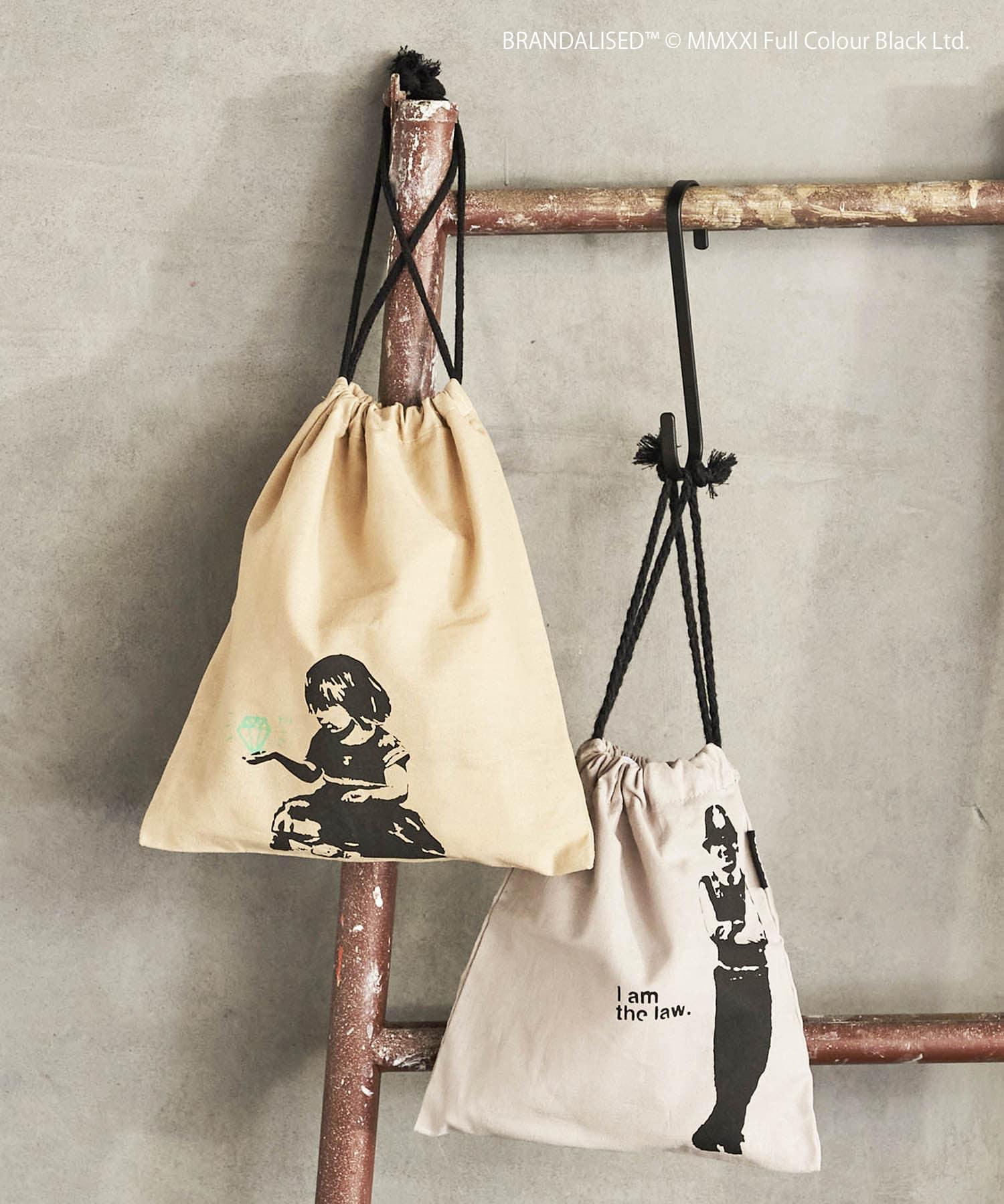 ASOKO(アソコ) レディース Banksy's Graffiti 巾着2枚セット その他