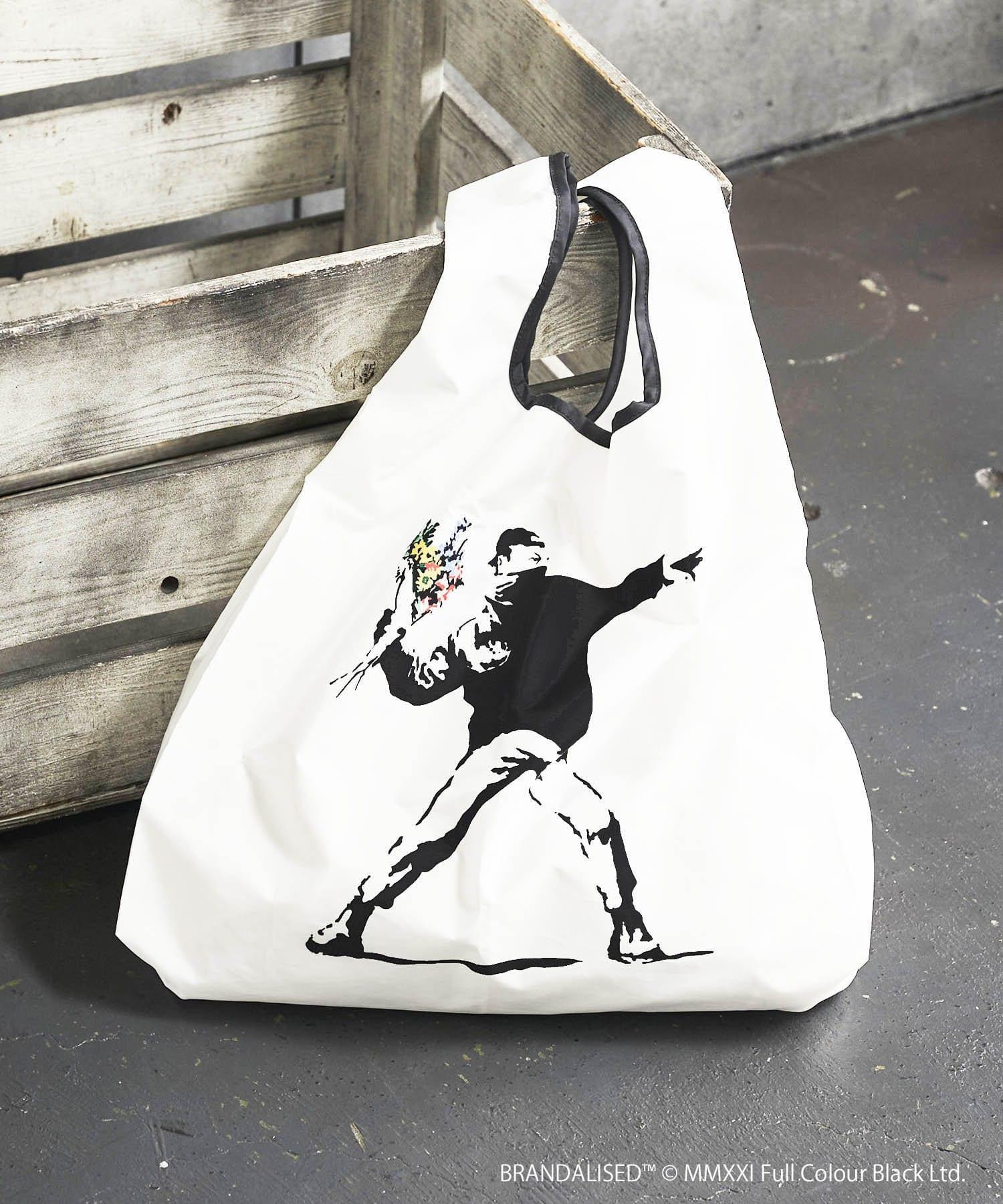 ASOKO(アソコ) レディース Banksy's Graffiti エコバッグ(L) その他