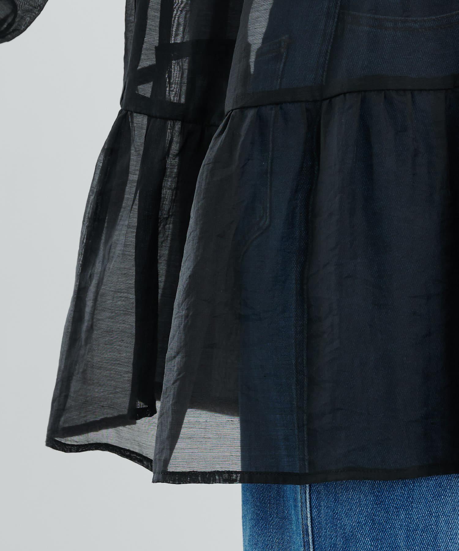 COLONY 2139(コロニー トゥーワンスリーナイン) サステナブルシアー長袖ティアードチュニック