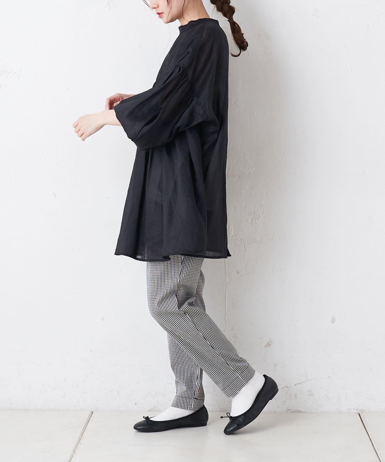 pual ce cin(ピュアルセシン) 【Du noir・WEB限定】袖ボリュームがかわいい♡2WAYブラウス