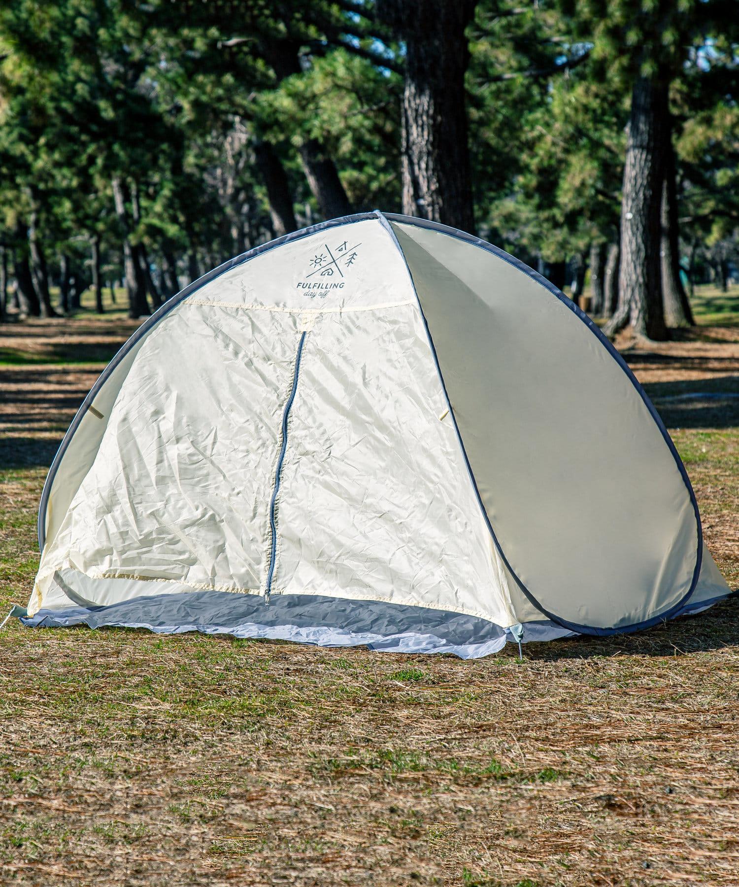 3COINS(スリーコインズ) 【お外を楽しむ快適キャンプ】カーテン付きPOPUPテント