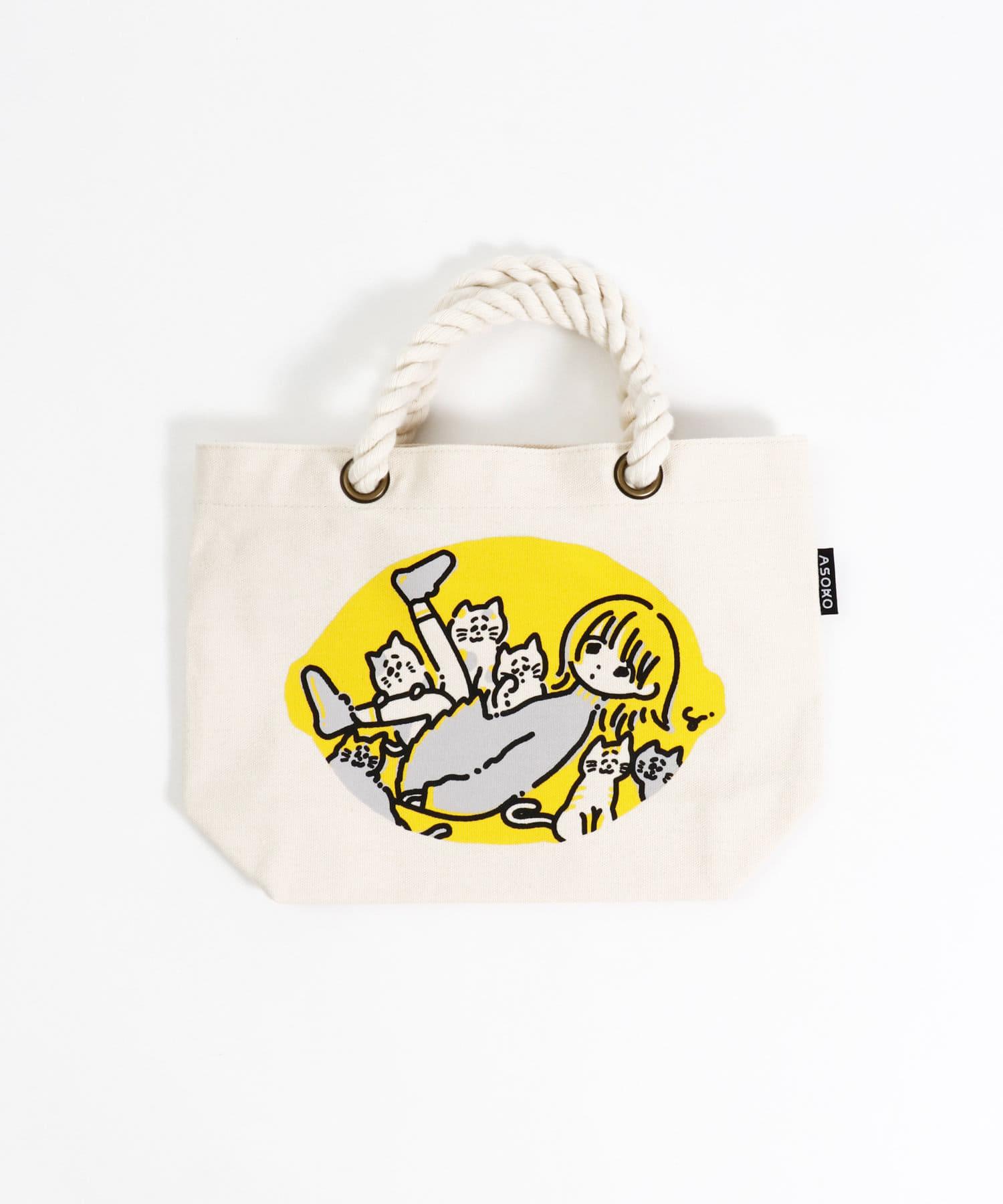 3COINS(スリーコインズ) 【ASOKO】【ASOKO de ART】ミニトートバッグ