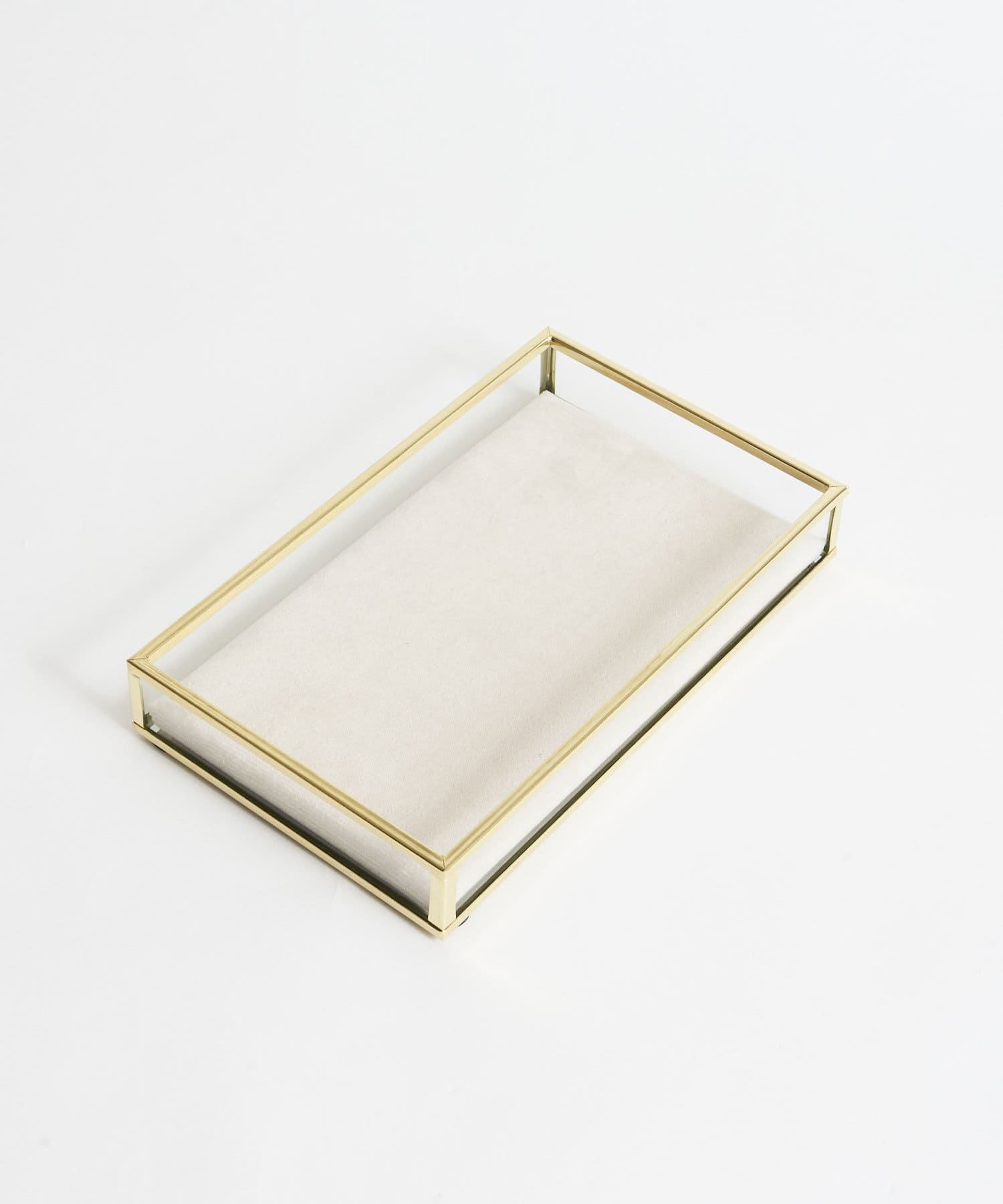 Lattice(ラティス) 【Ray9月号掲載】《オシャレに収納》GOLDFRAME ベロアトレイ(長方形)