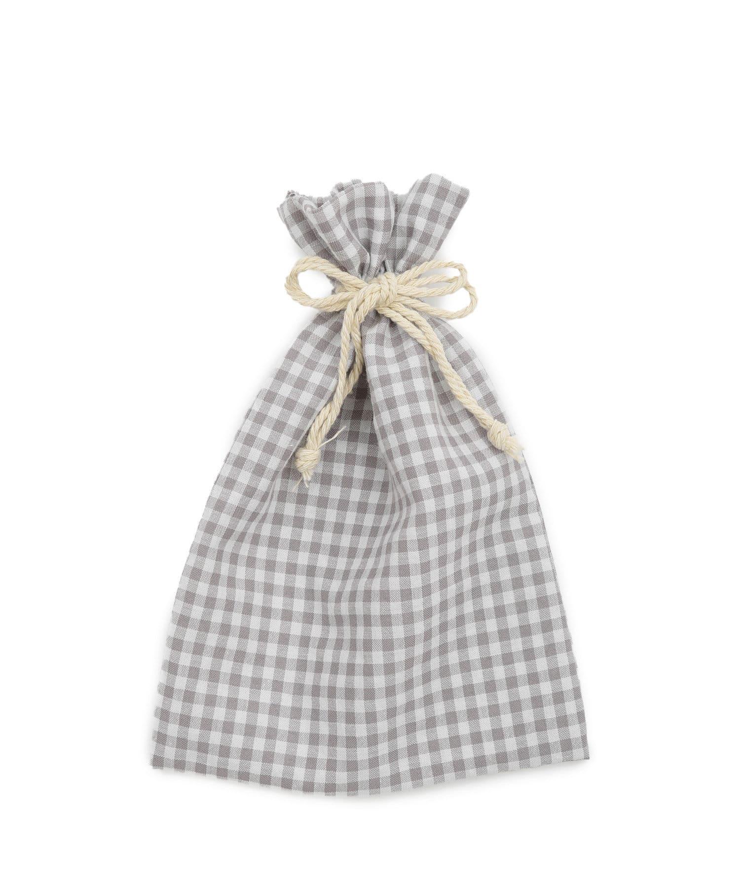 PAL CLOSET ONLINE STOREで買える「Lattice(ラティス Lattice(ラティス 【WEB限定】ギンガムチェック巾着ポーチM グレー」の画像です。価格は220円になります。