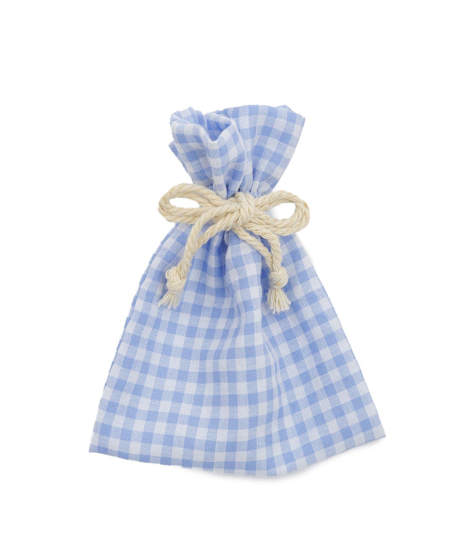 PAL CLOSET ONLINE STOREで買える「Lattice(ラティス Lattice(ラティス 【WEB限定】ギンガムチェック巾着ポーチS ブルー」の画像です。価格は110円になります。