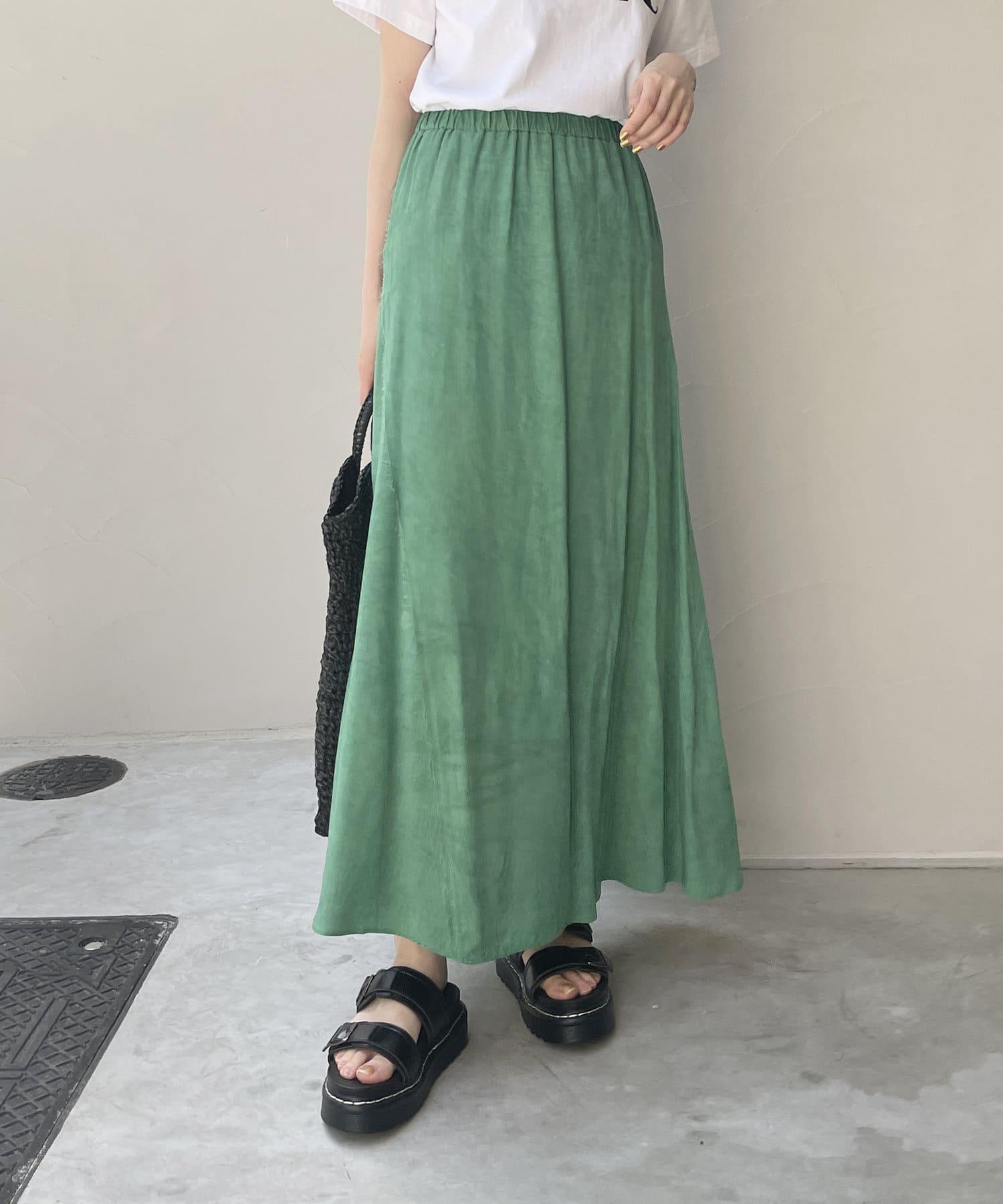 CAPRICIEUX LE'MAGE(カプリシュレマージュ) ムラ染めフレアスカート