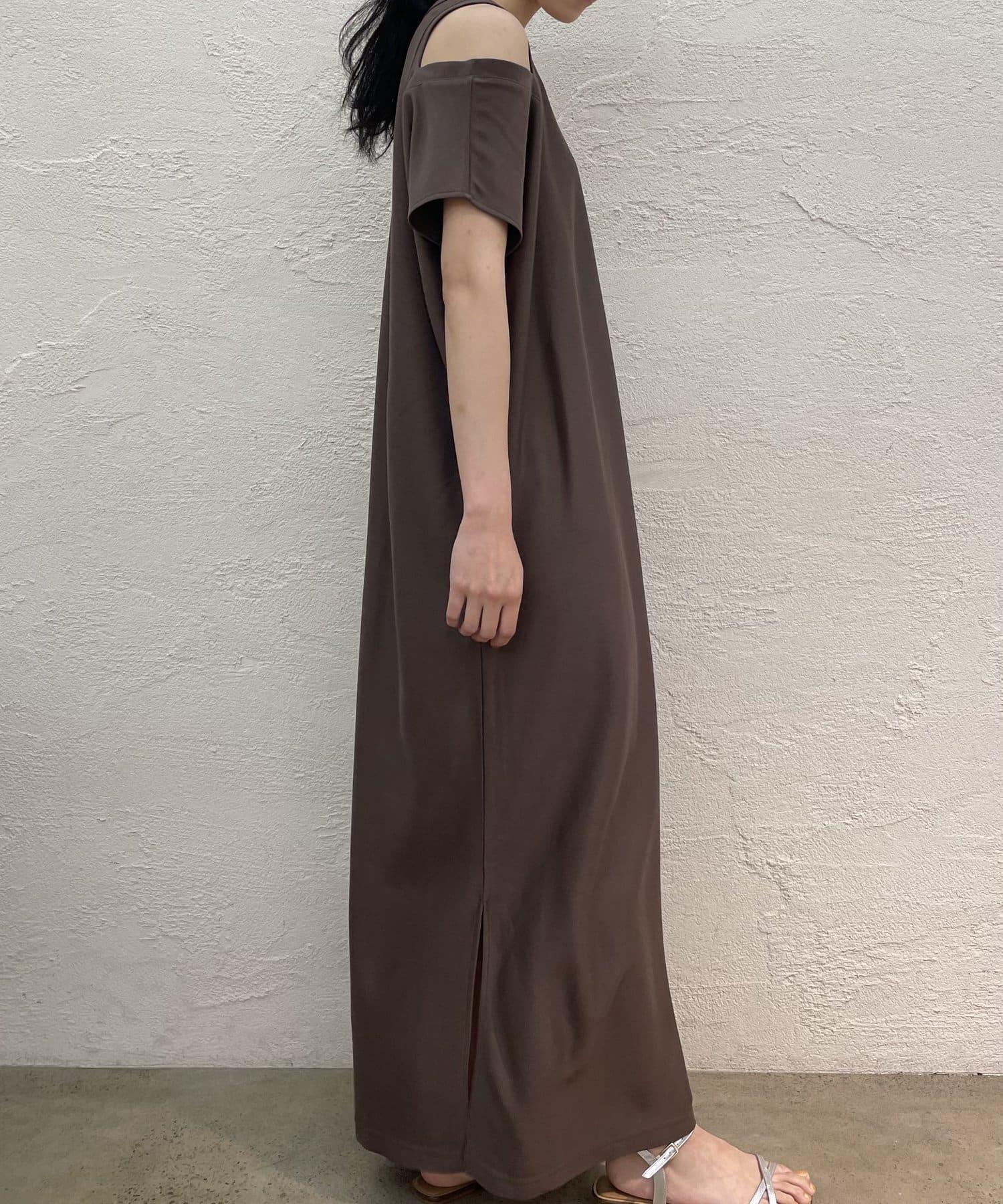 Loungedress(ラウンジドレス) 【WEB限定】オフショルマキシカットワンピース