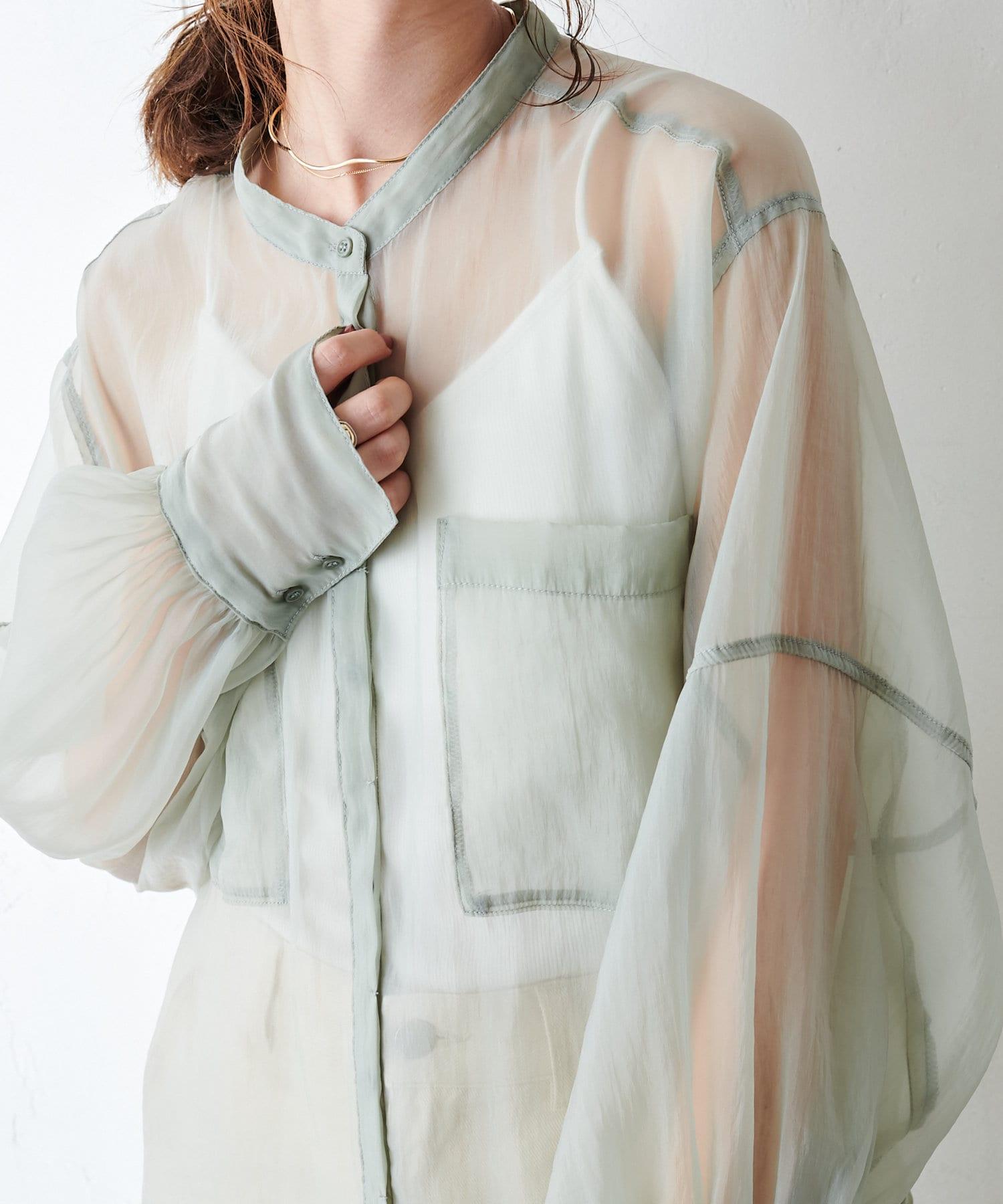 Discoat(ディスコート) シアーロングシャツ