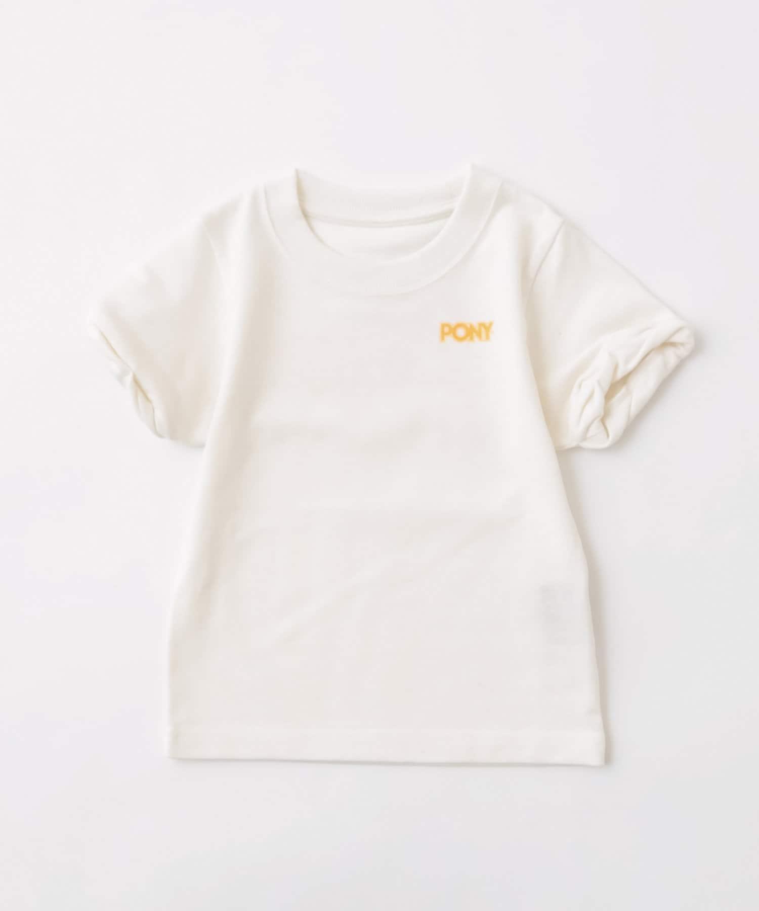 who's who Chico(フーズフーチコ) Kids PONYネオンバックロゴ半袖Tシャツ